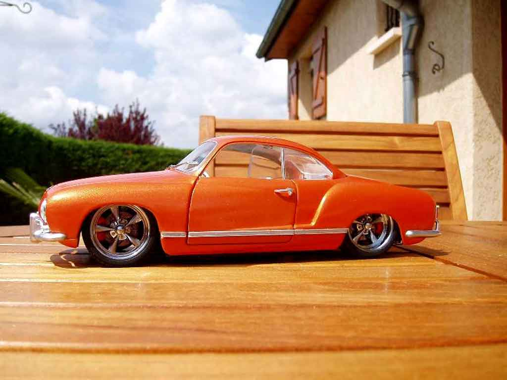 Volkswagen Karmann 1/18 Solido orange pulp tuning miniature