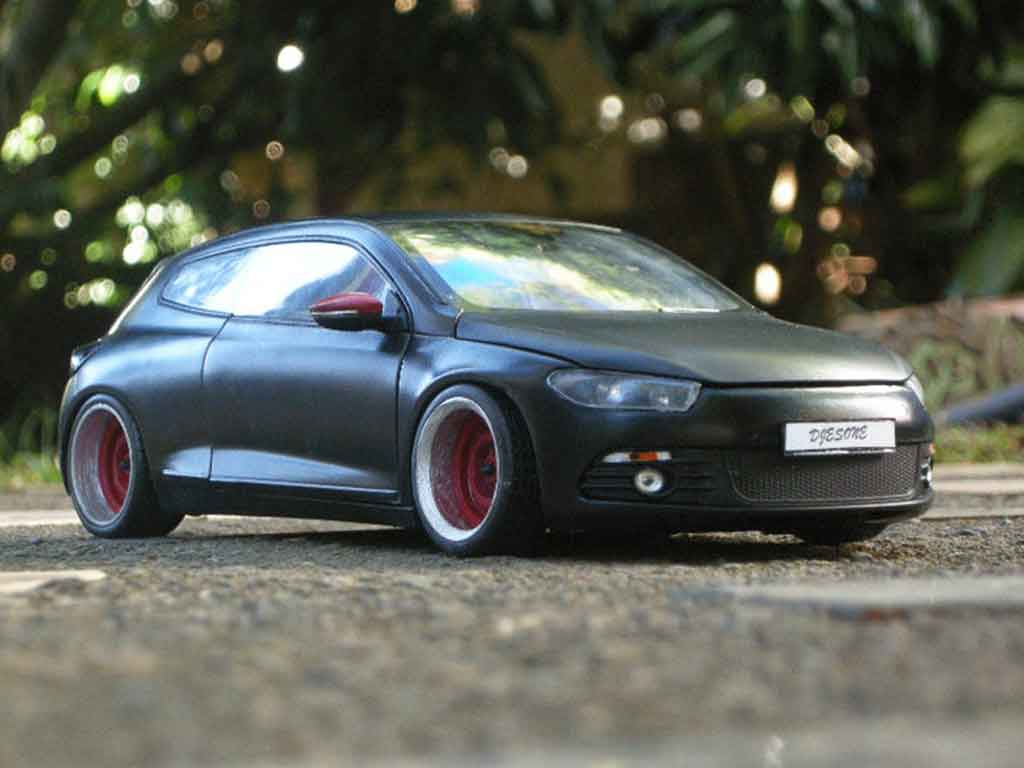 Volkswagen Scirocco 1/18 Norev 3 r black german look tuning diecast model cars