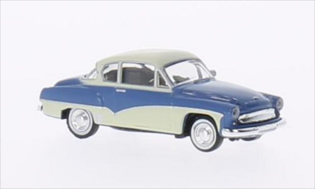 Wartburg 311 1/87 Brekina Coupe bleu/beige miniature