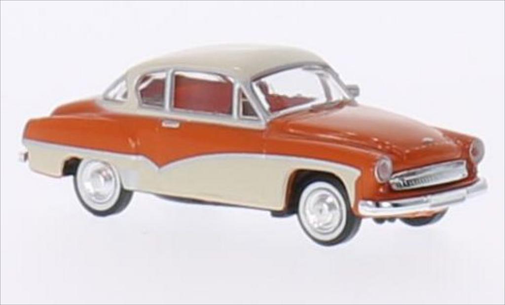 Wartburg 311 1/87 Brekina Coupe orange/beige miniature