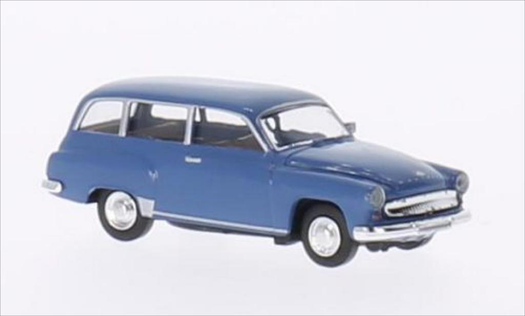 Wartburg 311 1/87 Brekina Kombi bleu miniature
