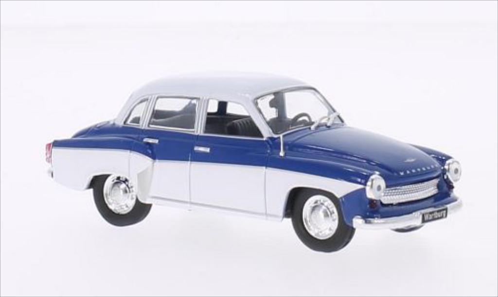 Wartburg 312 1/43 WhiteBox bleu/blanche 1965 miniature