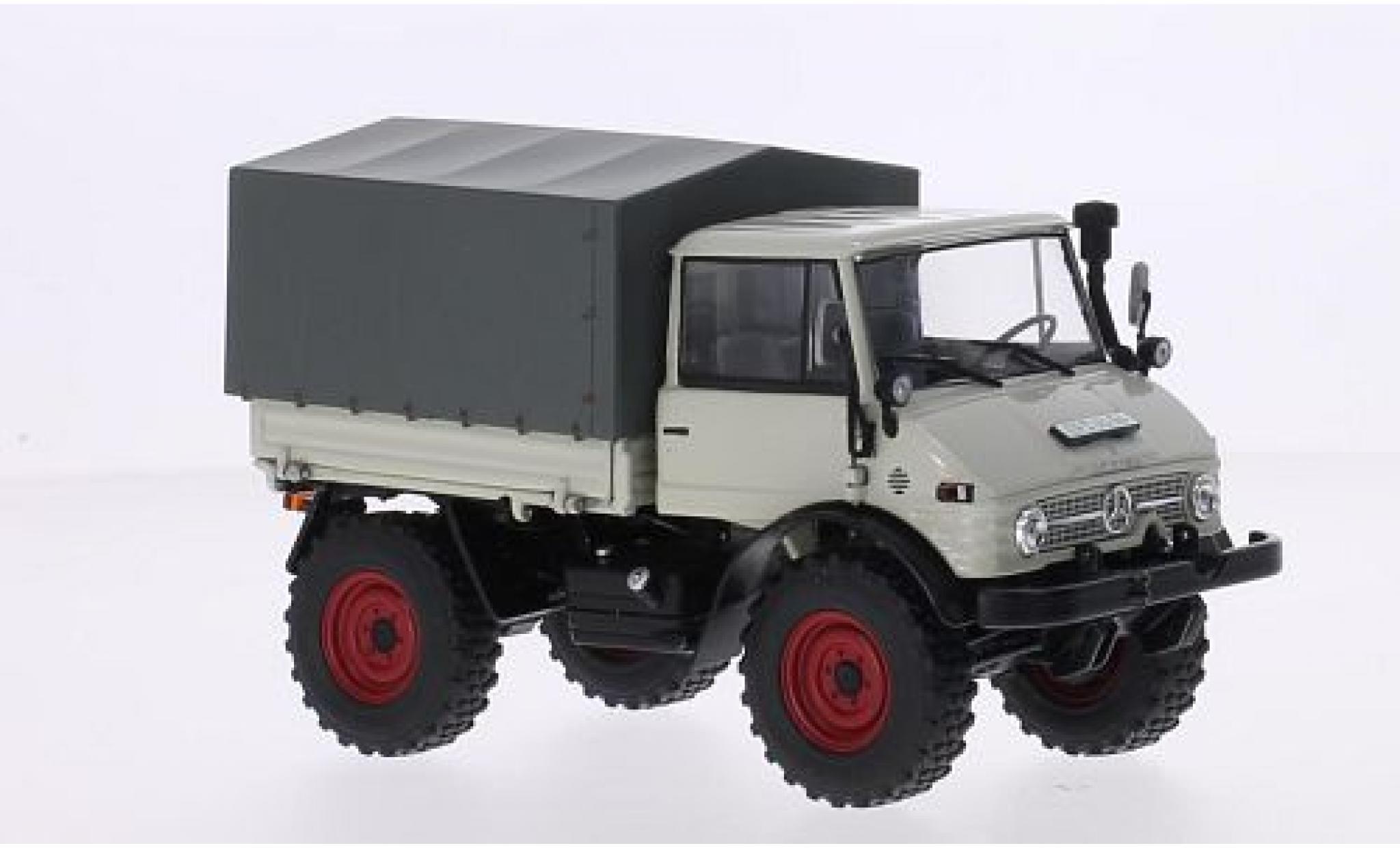 Mercedes Unimog 1/32 weise toys 406 (U84) grise avec Ganzstahl-Fahrerhaus et toile