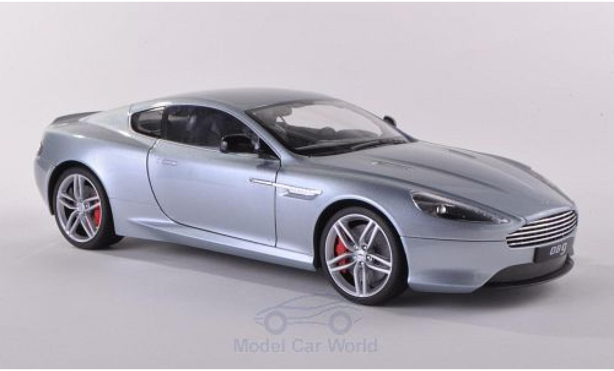 Aston Martin DB9 1/18 Welly Coupe grise
