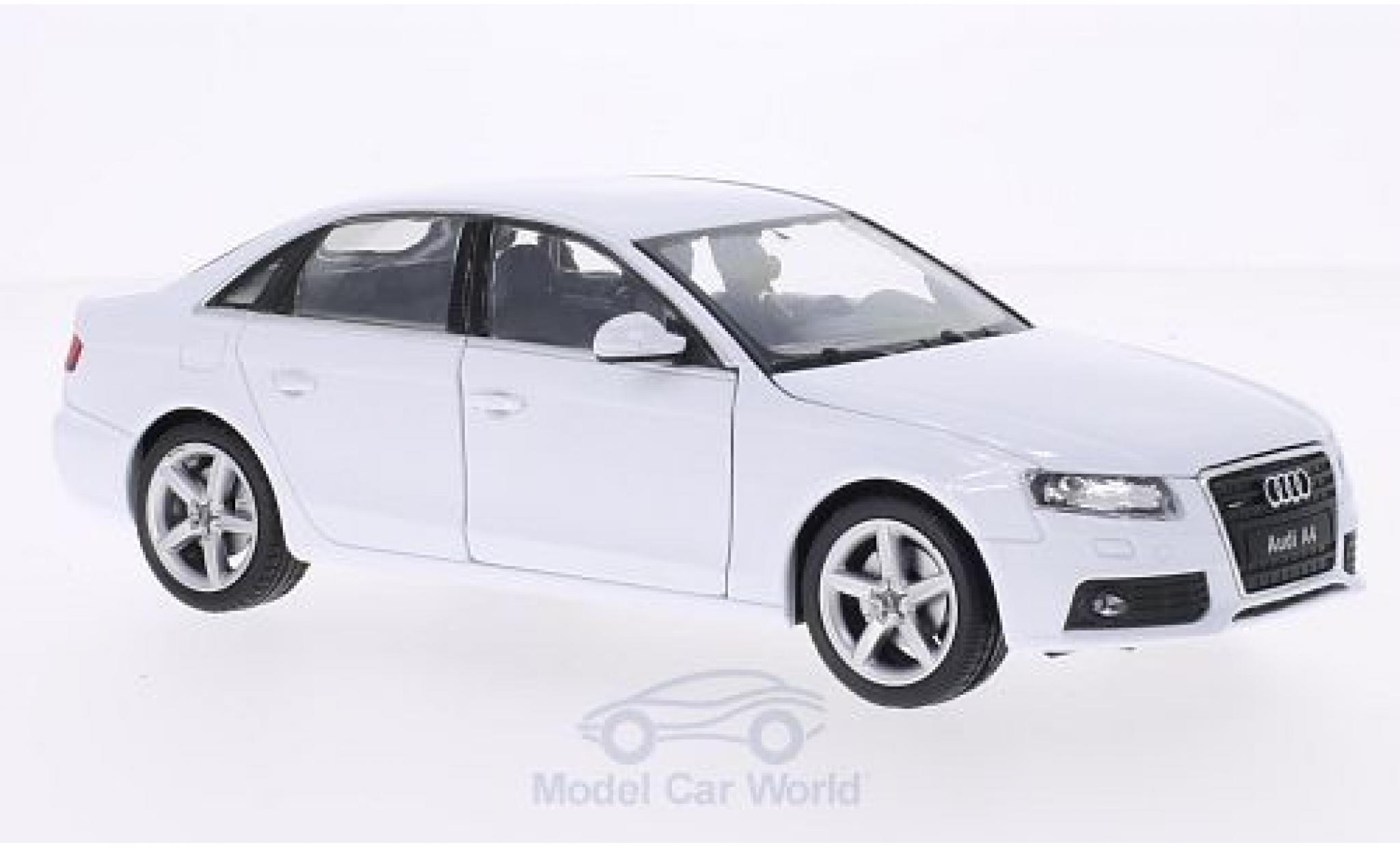 Audi A4 1/24 Welly blanche 2009