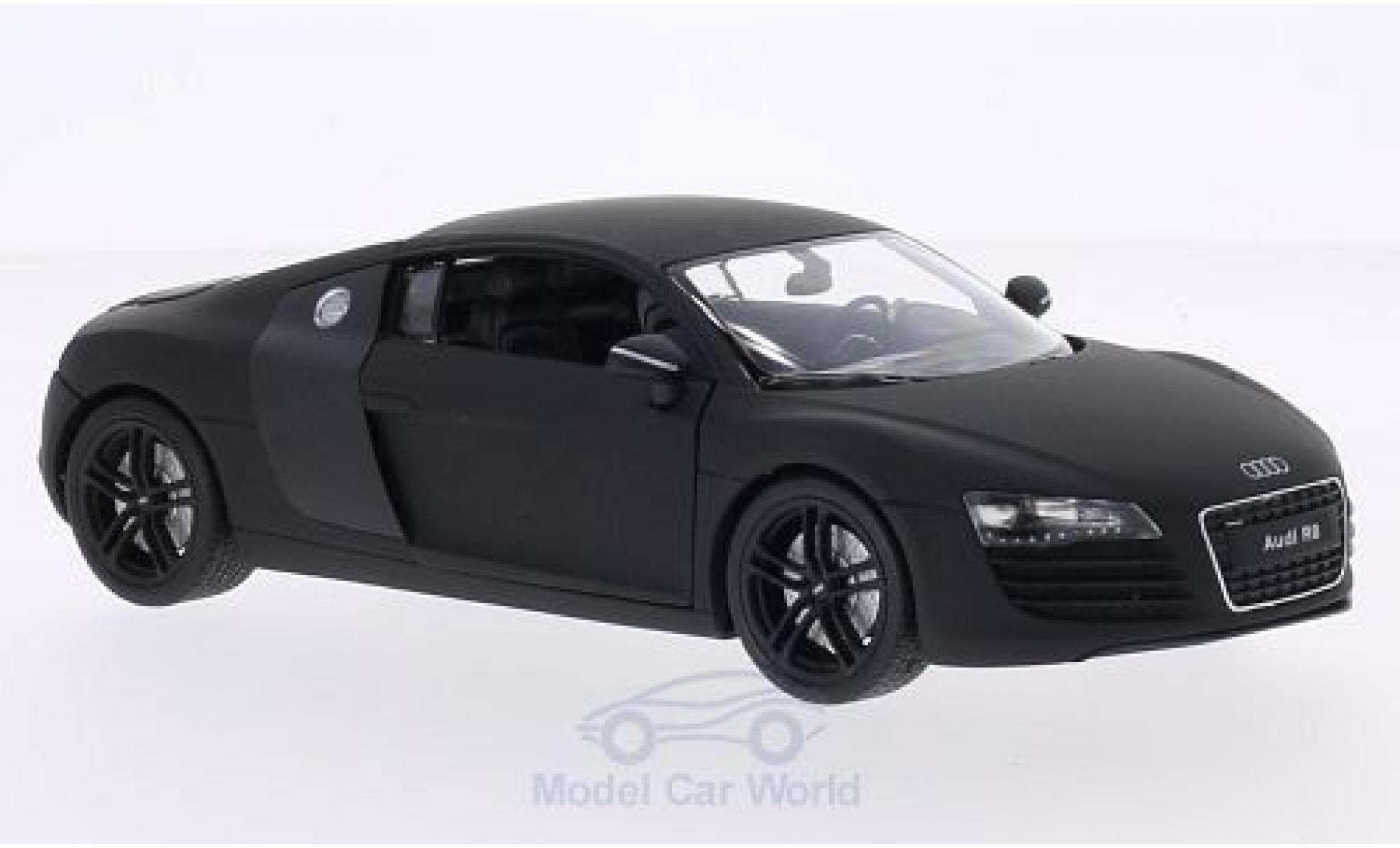 Audi R8 1/24 Welly V10 Coupe matt-noire/carbon