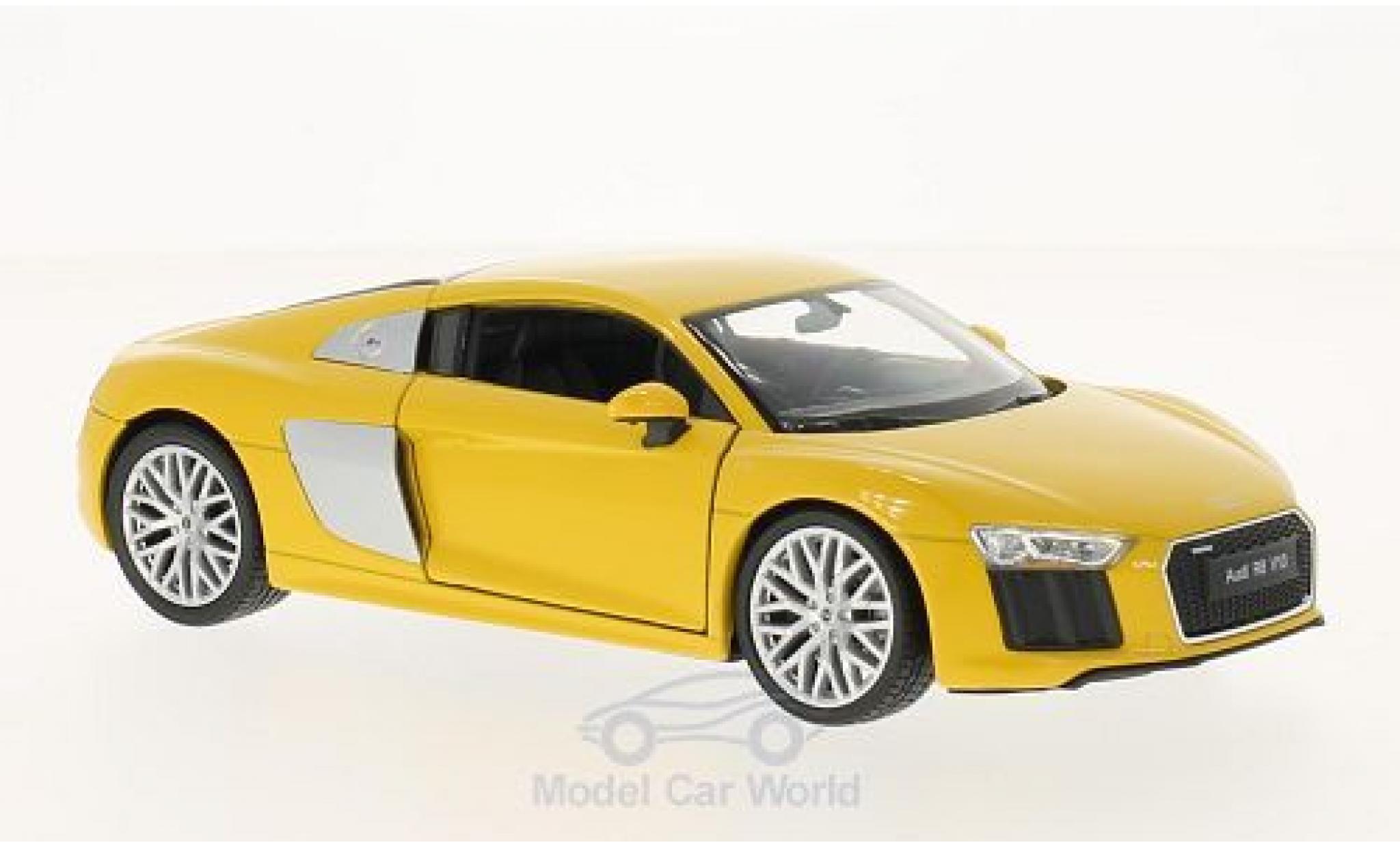 Audi R8 1/24 Welly V10 jaune