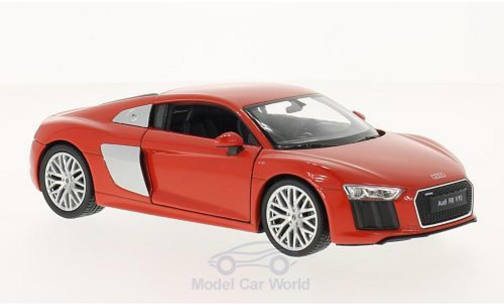 Audi R8 1/24 Welly V10 rouge