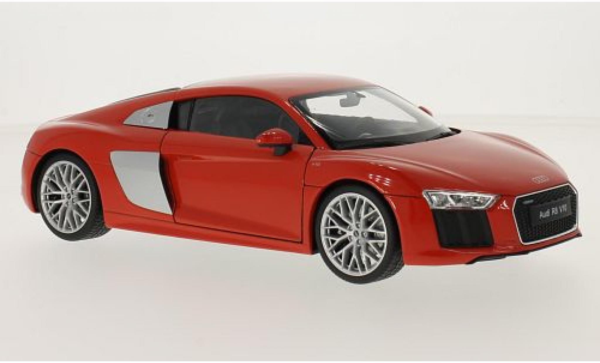 Audi R8 1/18 Welly V10 rouge 2016