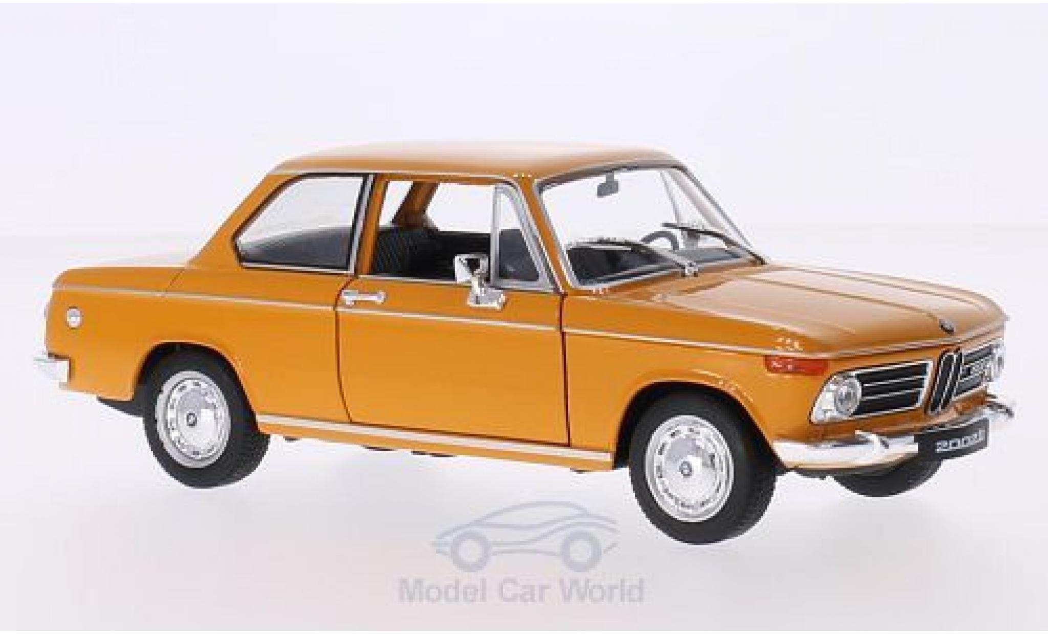 Bmw 2002 Ti 1/24 Welly orange 1968