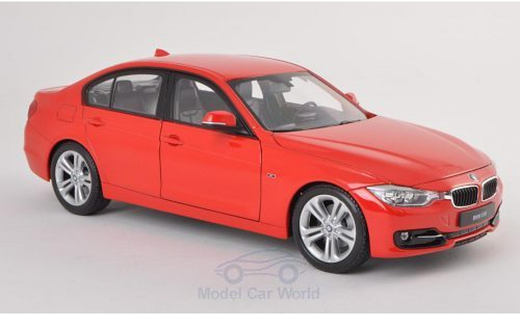 Bmw 335 1/18 Welly i rouge