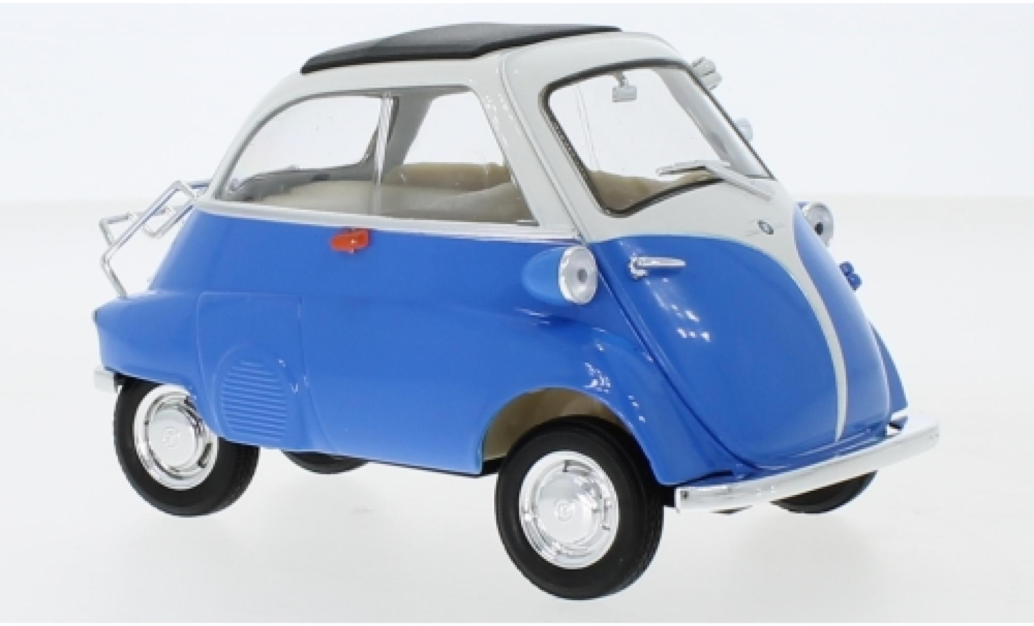 Bmw Isetta 1/18 Welly 250 bleue/blanche