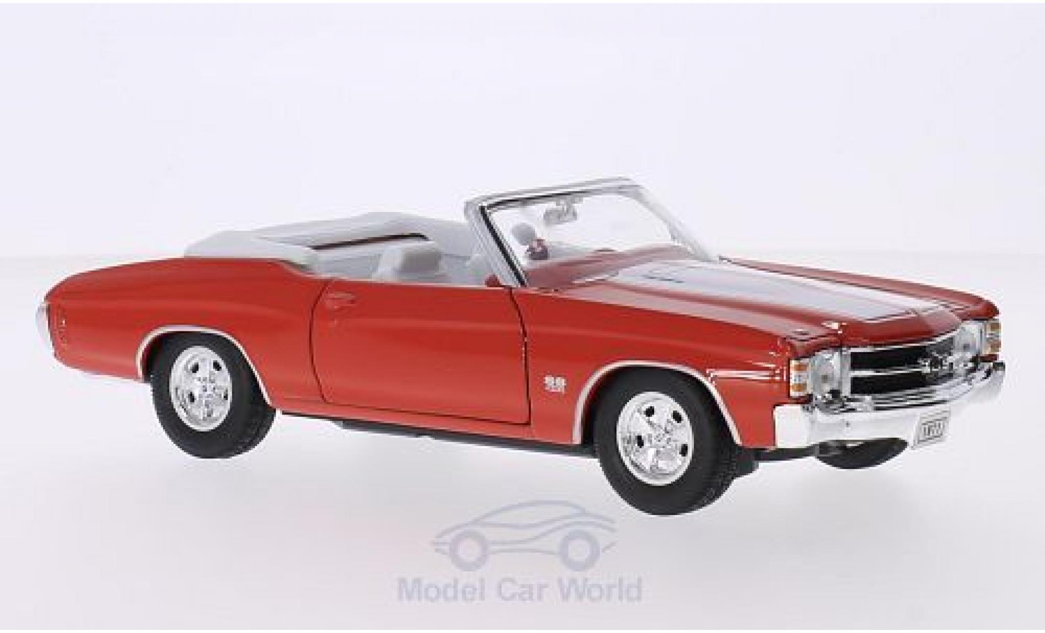 Chevrolet Chevelle 1/24 Welly SS 454 Convertible orange/white 1971