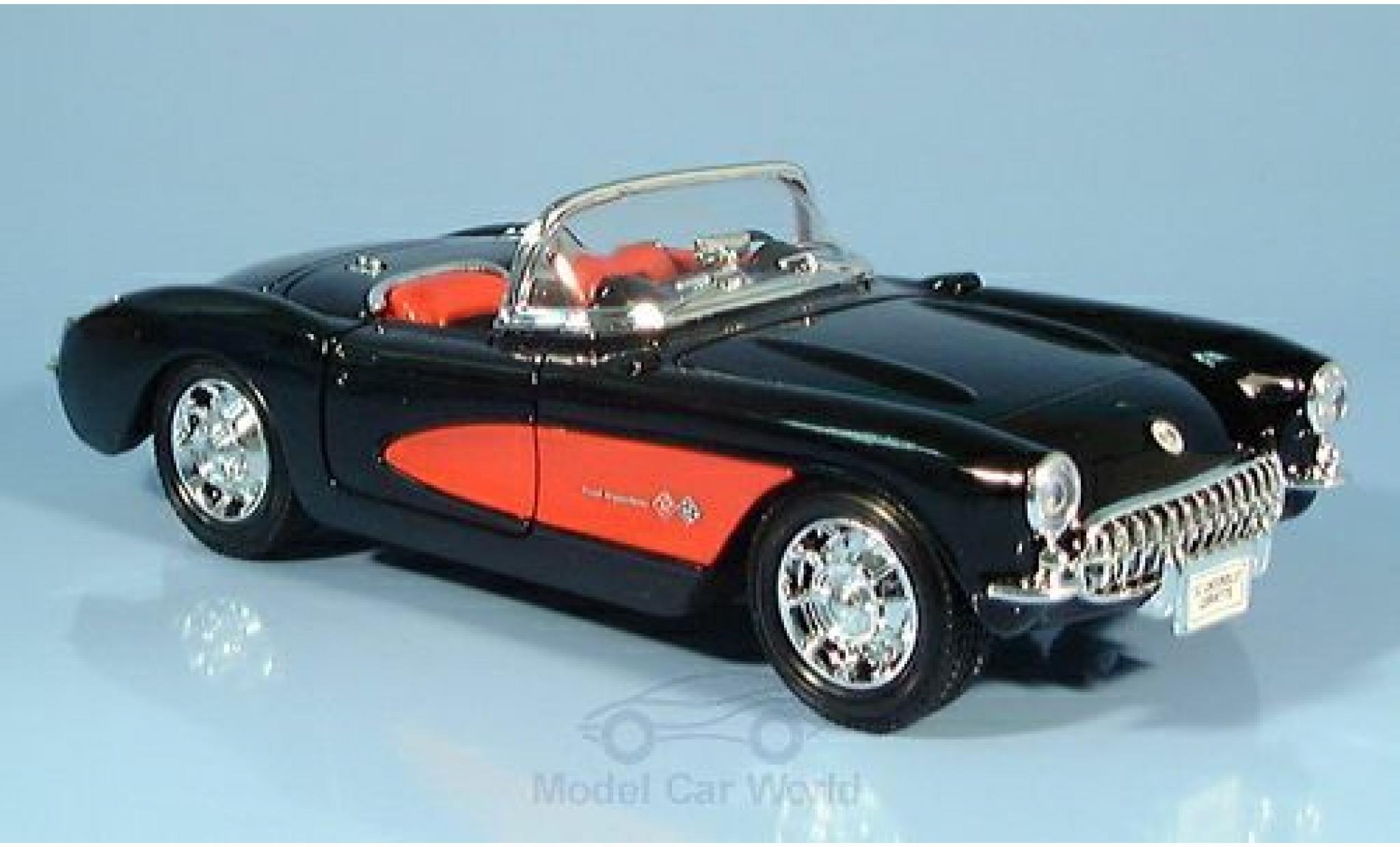 Chevrolet Corvette 1/24 Welly noire 1957 ohne Vitrine
