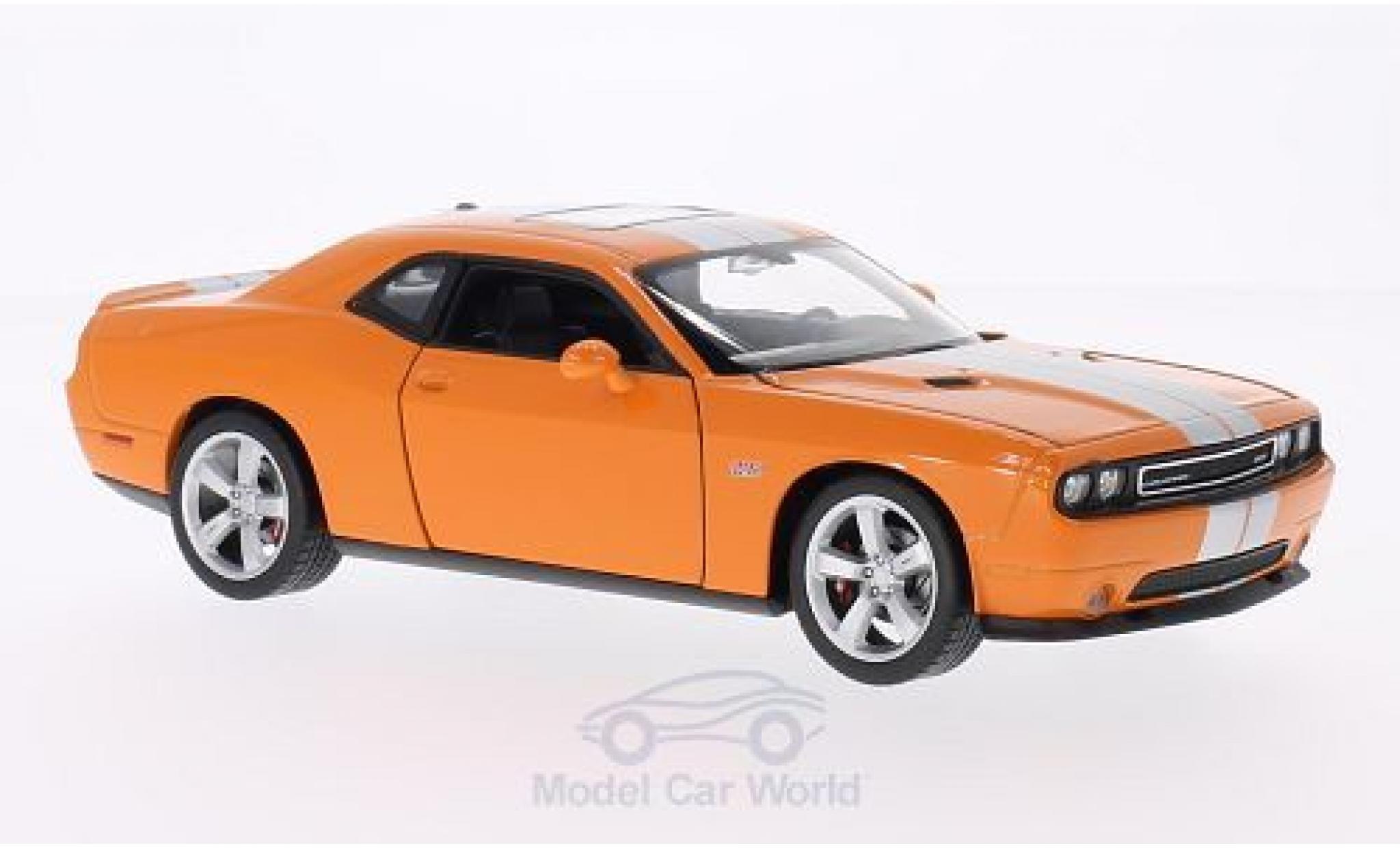 Dodge Challenger 1/24 Welly SRT orange/grise