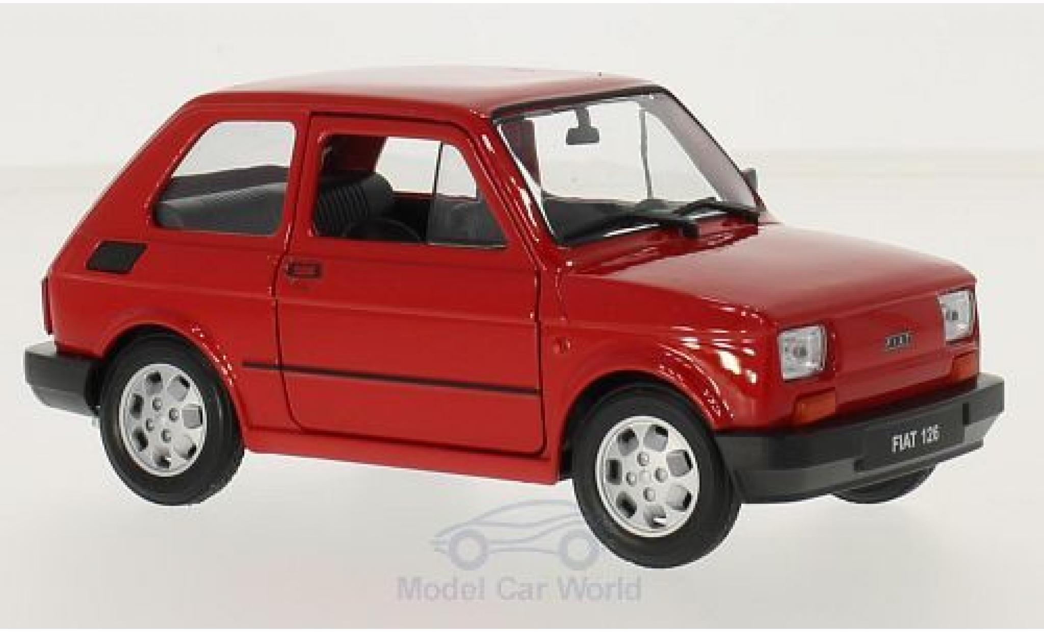 Fiat 126 1/24 Welly rouge