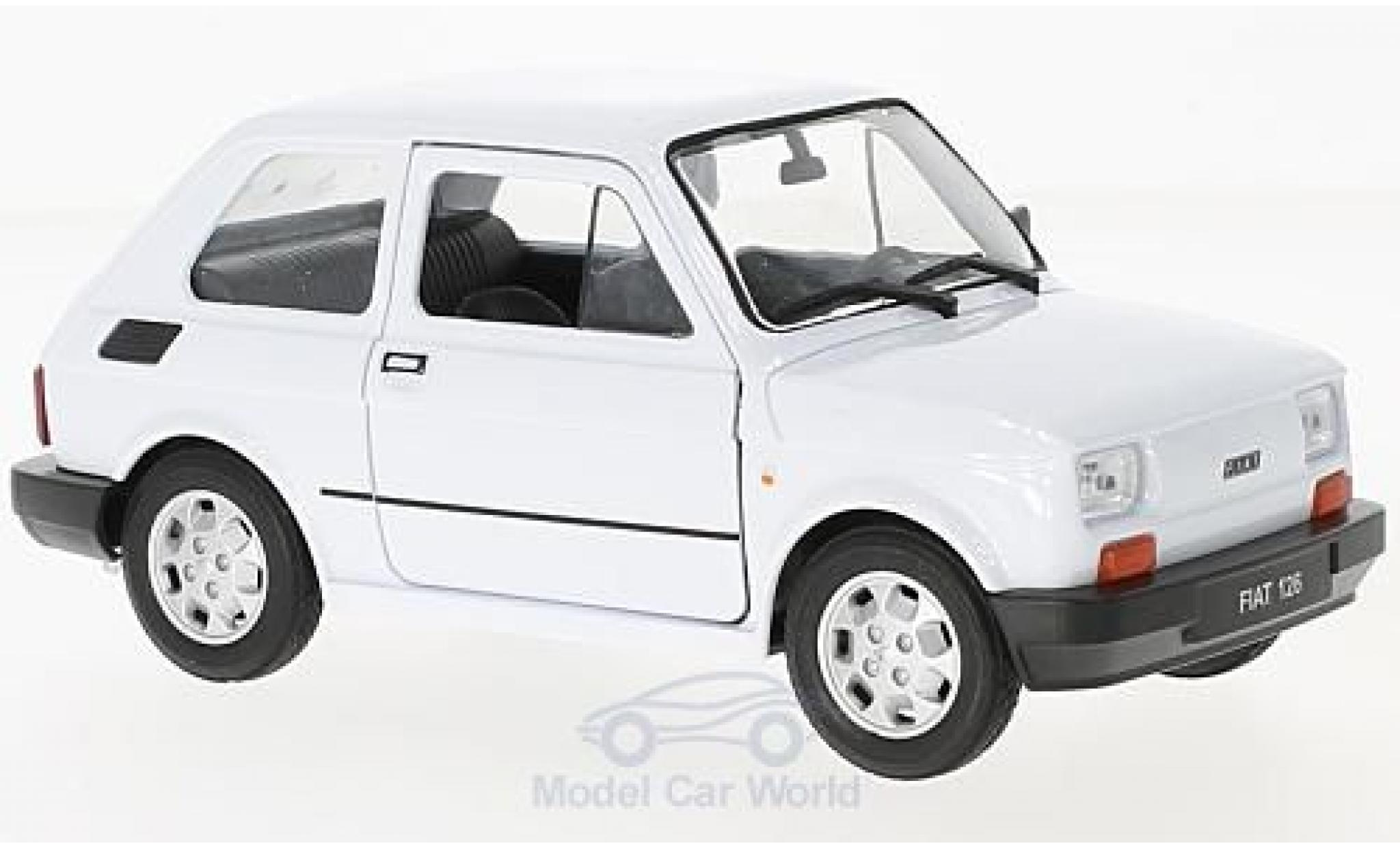 Fiat 126 1/24 Welly blanche