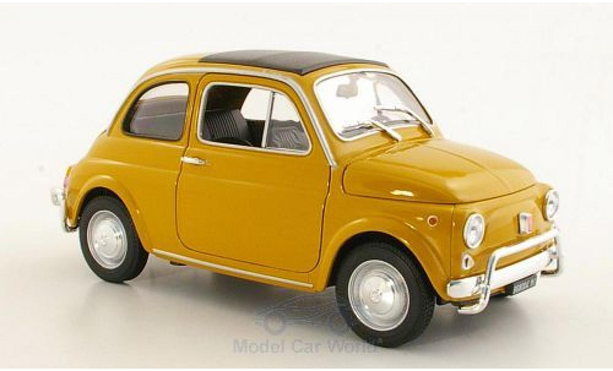 Fiat 500 1/18 Welly yellow 1957 ohne Vitrine