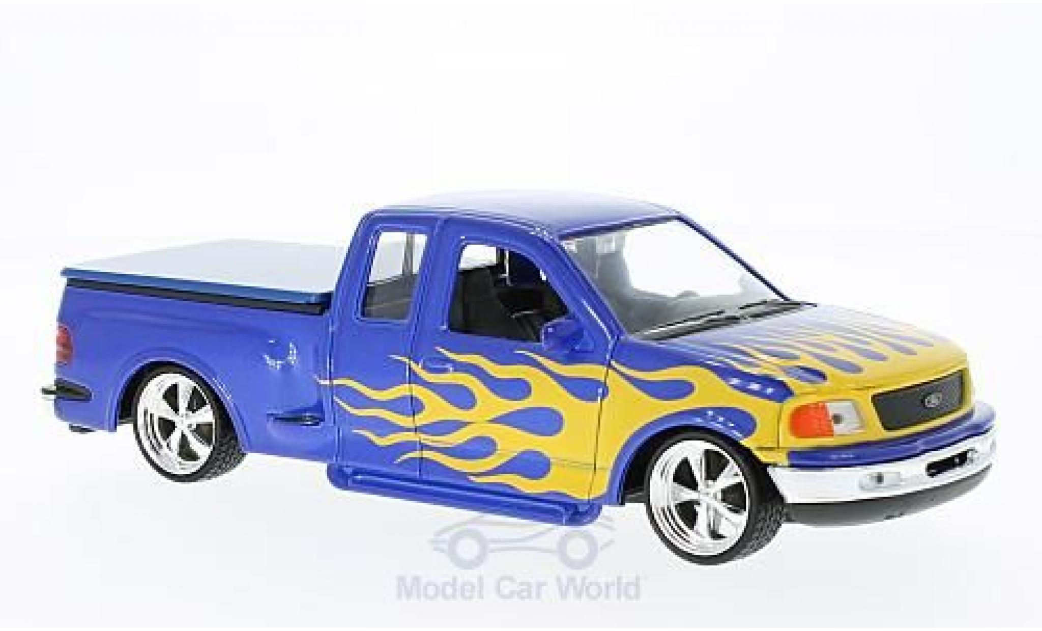 Ford F-1 1/24 Welly 50 Flareside Supercab Low Rider bleue/Dekor 1999
