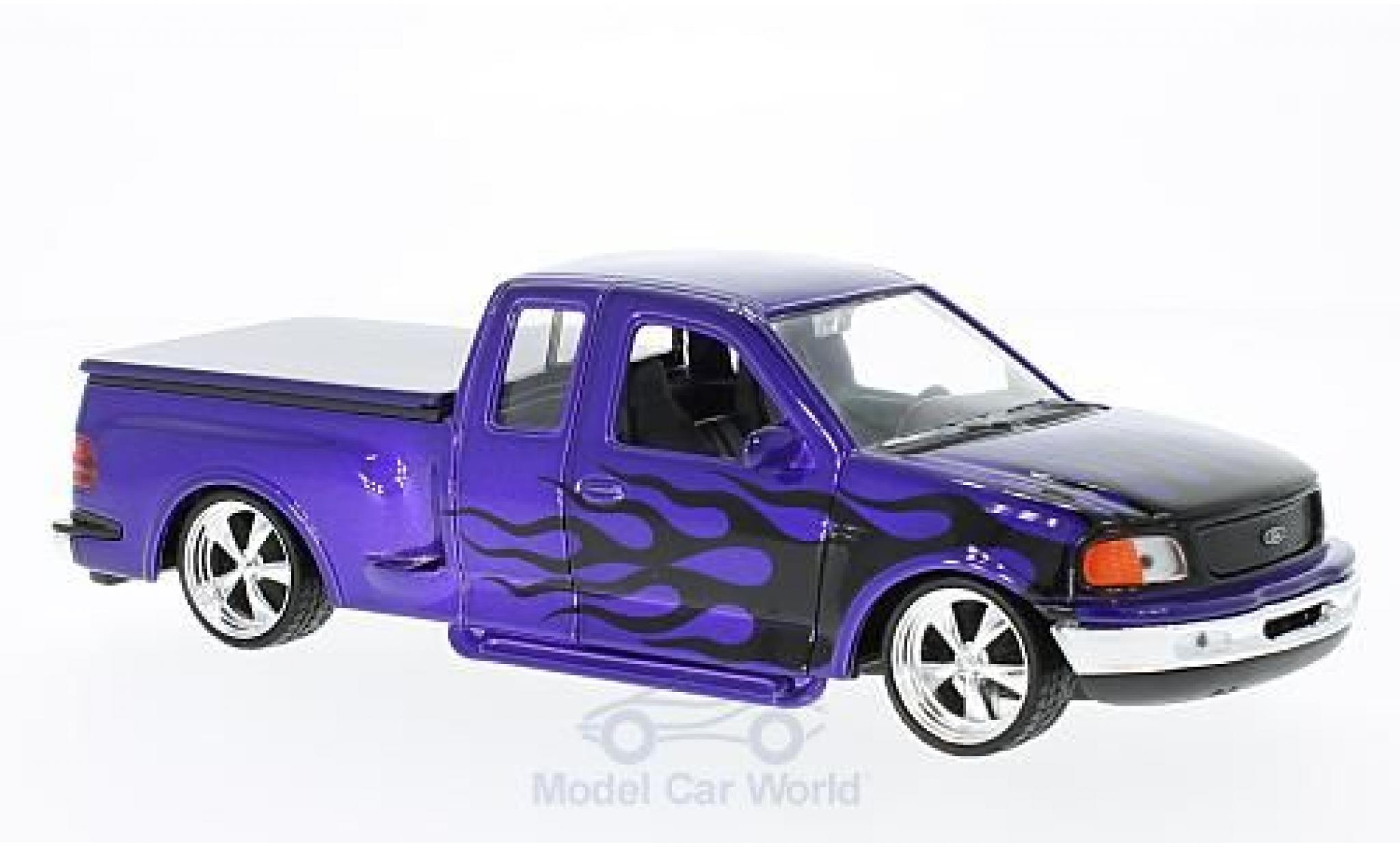 Ford F-1 1/24 Welly 50 Flareside Supercab Low Rider violette/Dekor 1999