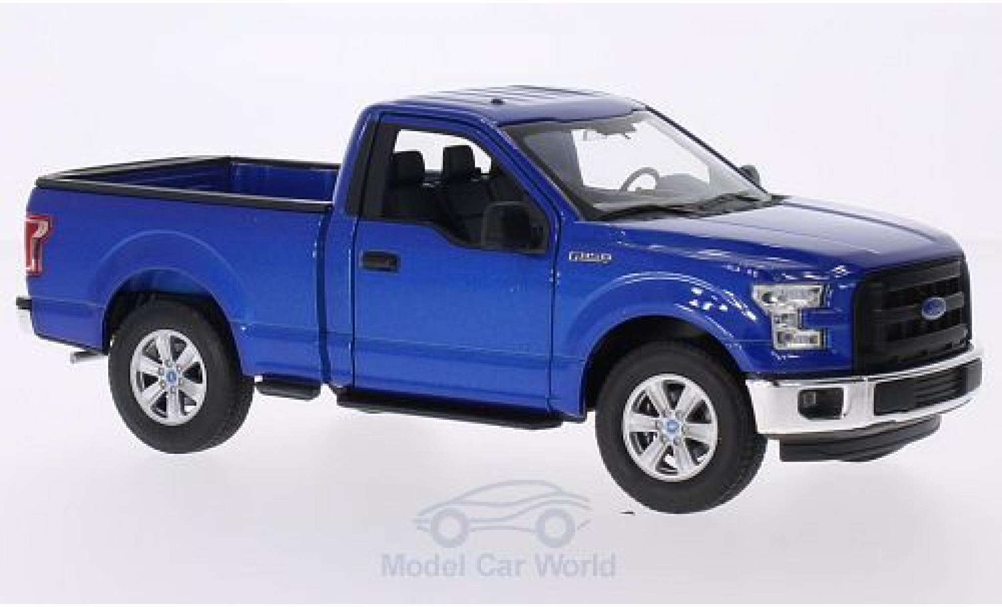 Ford F-1 1/24 Welly 50 metallise bleue 2015