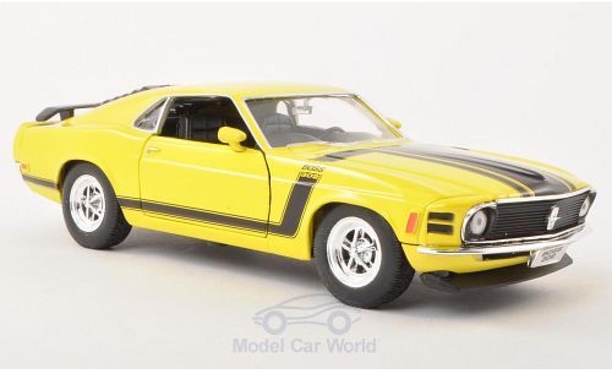 Ford Mustang 1/24 Welly Boss 302 jaune 1970 ohne Vitrine