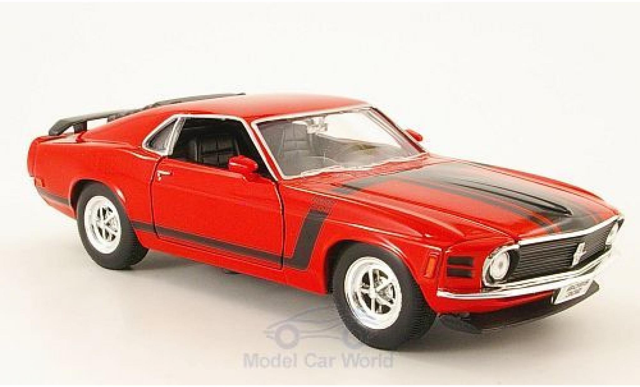 Ford Mustang 1/24 Welly Boss 302 rouge/Dekor 1970 ohne Vitrine