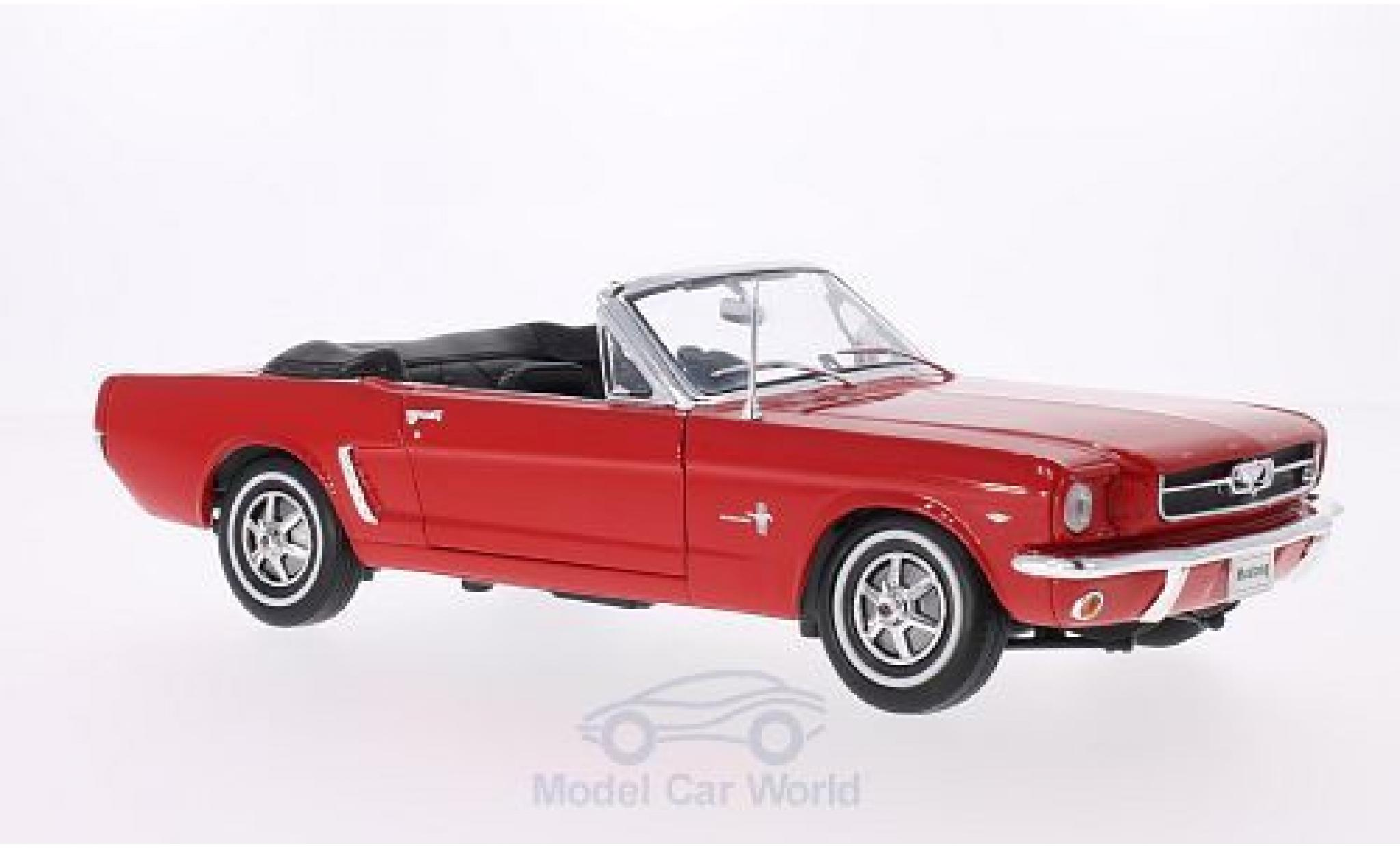 Ford Mustang 1/18 Welly Cabriolet rojo 1964