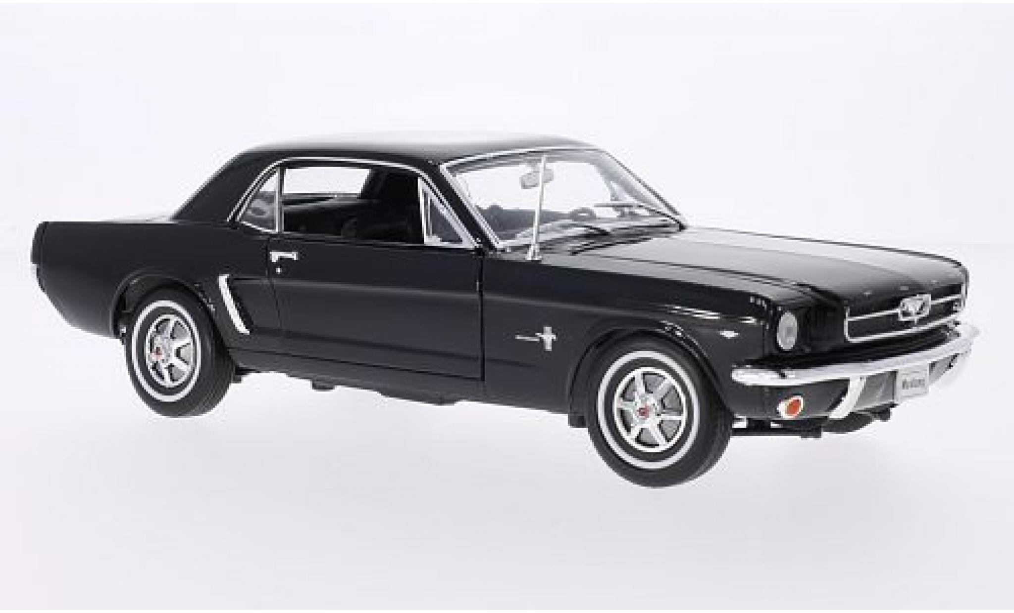 Ford Mustang 1/24 Welly Coupe noire 1964
