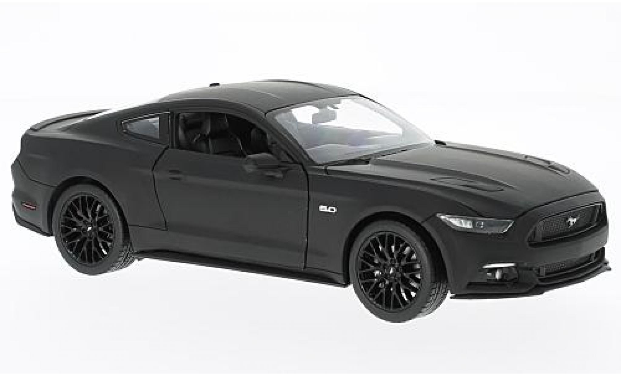 Ford Mustang 1/24 Welly GT matt-noire 2015
