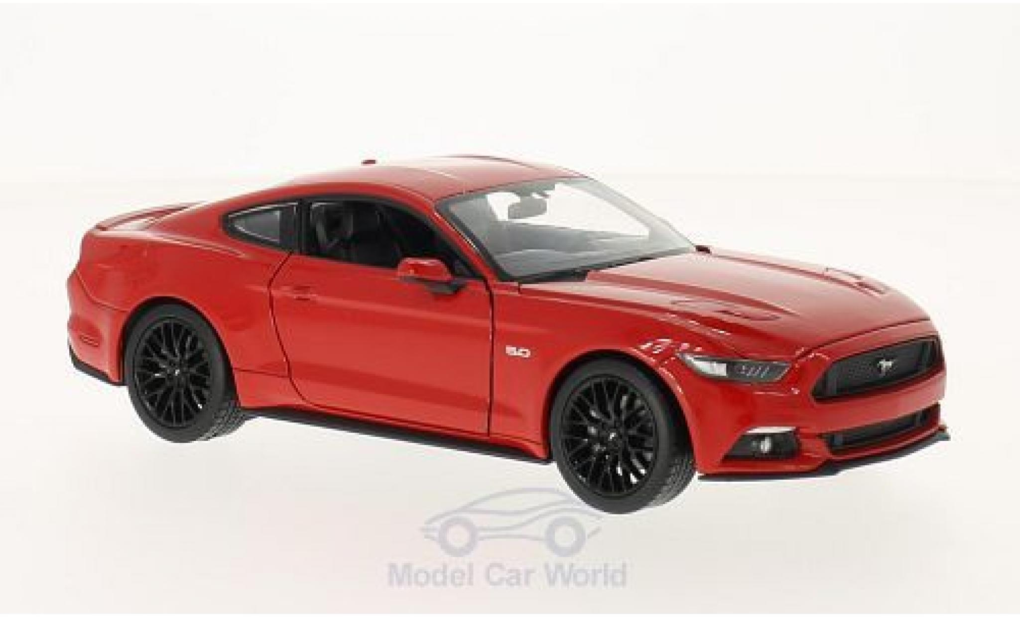 Ford Mustang GT 2015 rouge voiture miniature 1:24 Welly