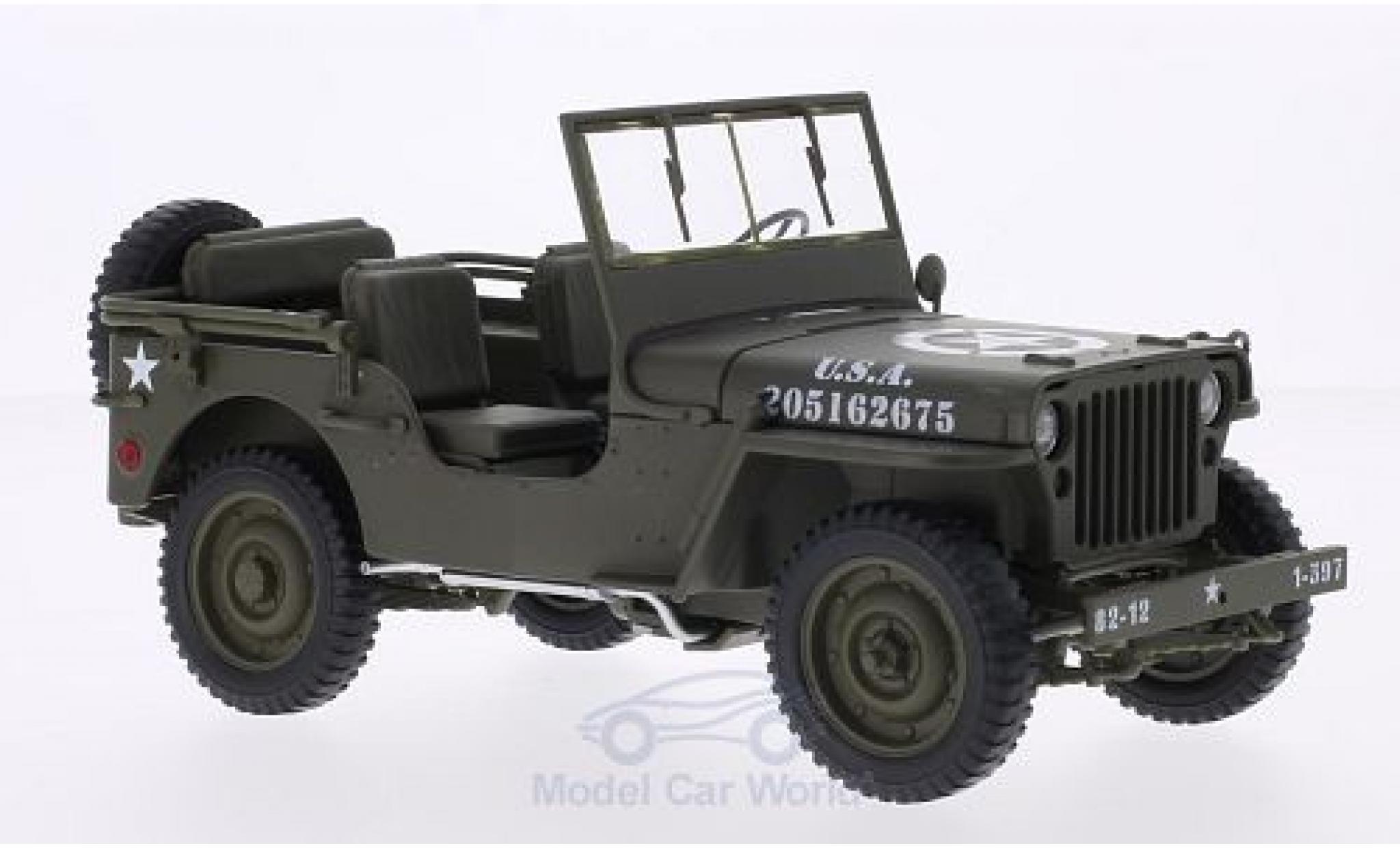 Jeep Willys 1/18 Welly matt-oliv U.S. Army offen