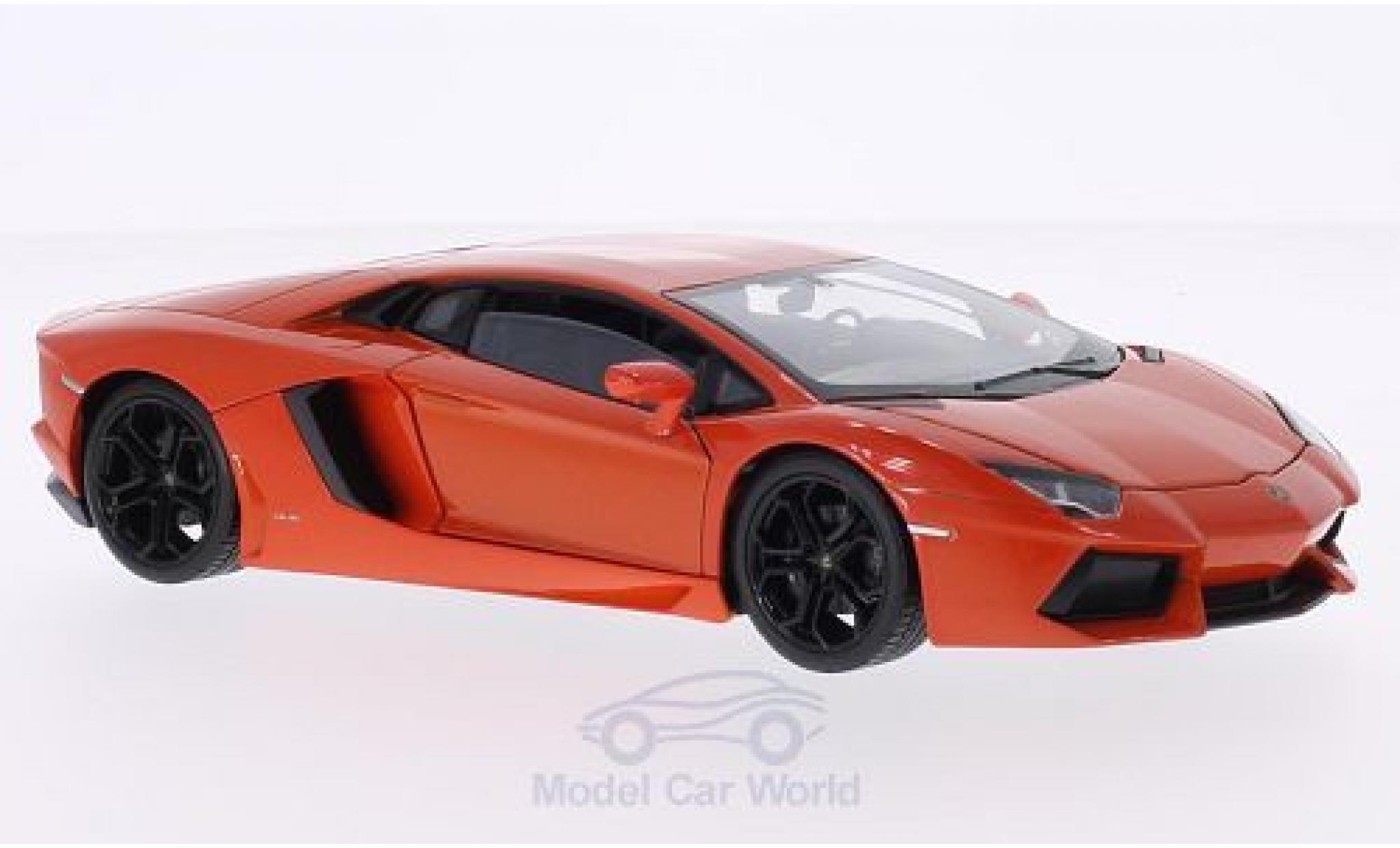 Lamborghini Aventador 1/24 Welly LP 700-4 metallic-dunkelorange