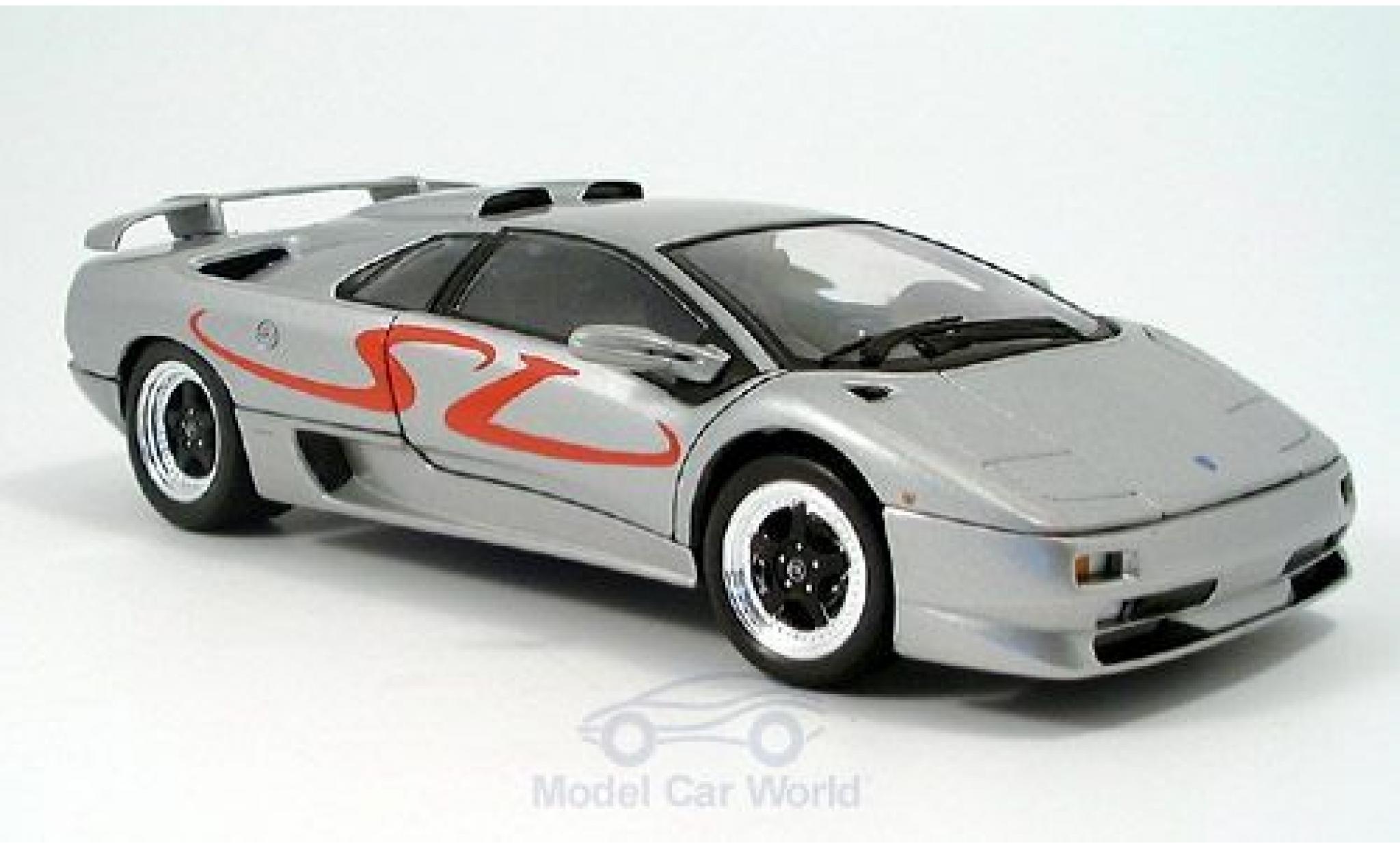 Lamborghini Diablo 1/18 Welly SV grise 1998 ohne Vitrine