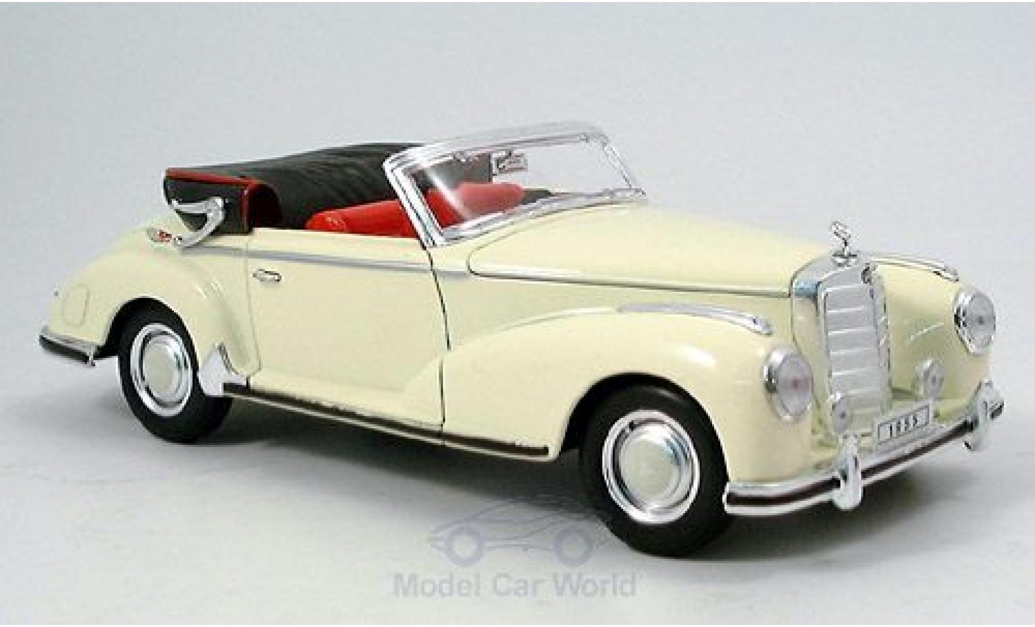 Mercedes 300 1/18 Welly S Cabriolet beige 1955