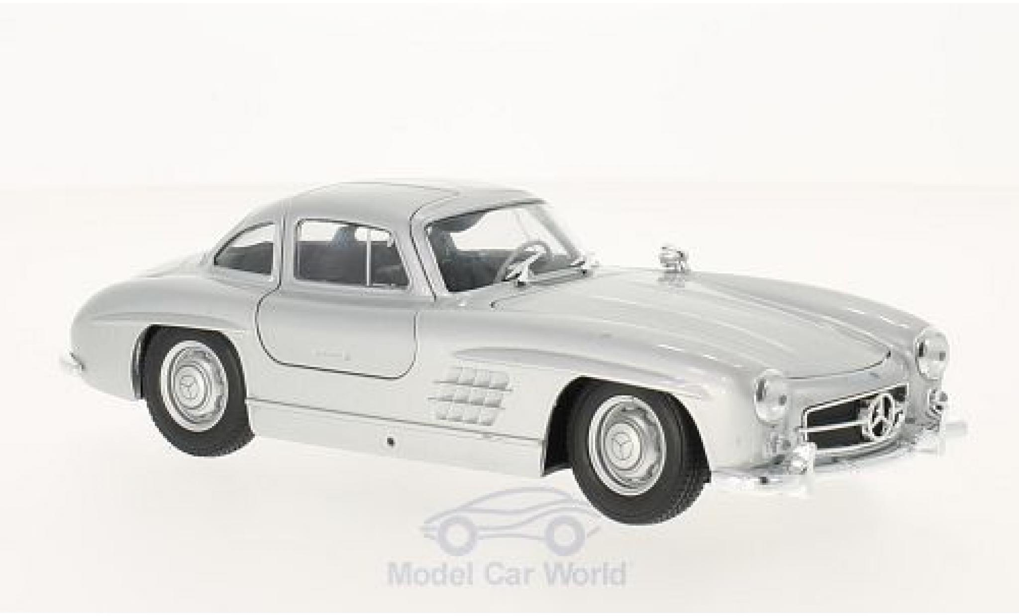Mercedes 300 1/24 Welly SL (W198) grise