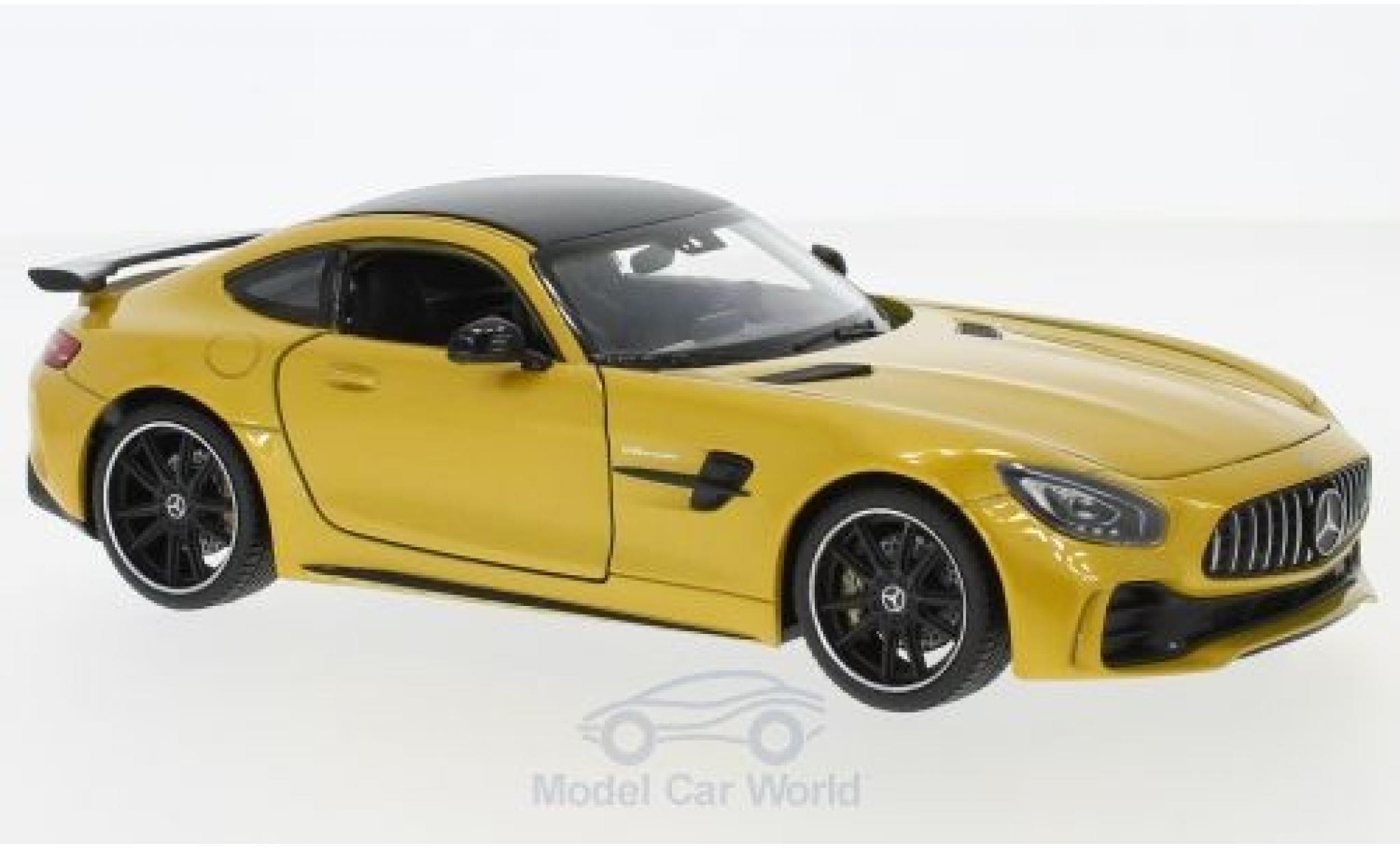 Mercedes AMG GT 1/24 Welly R metallise jaune