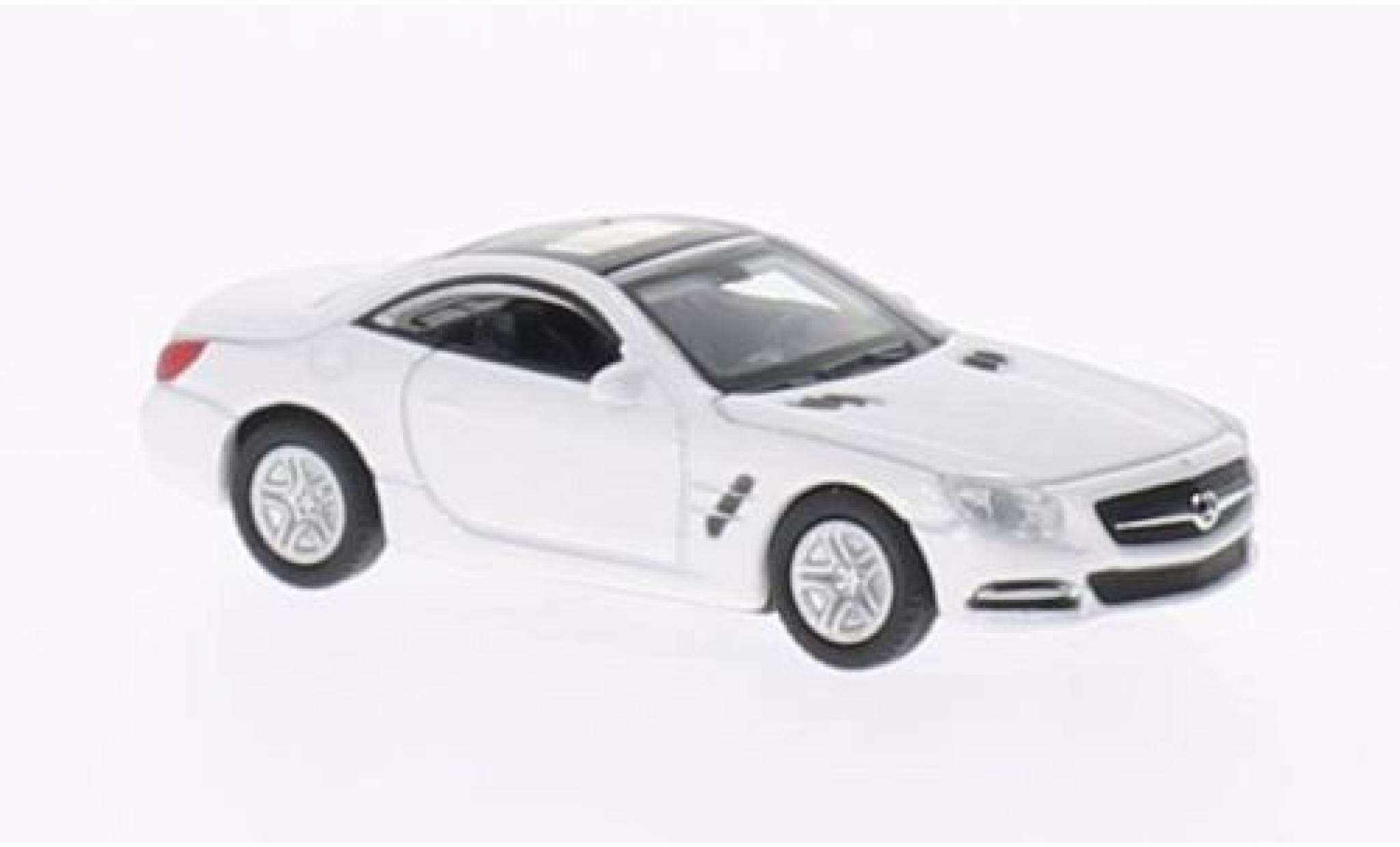 Mercedes Classe SL 1/87 Welly SL500 blanche 2012