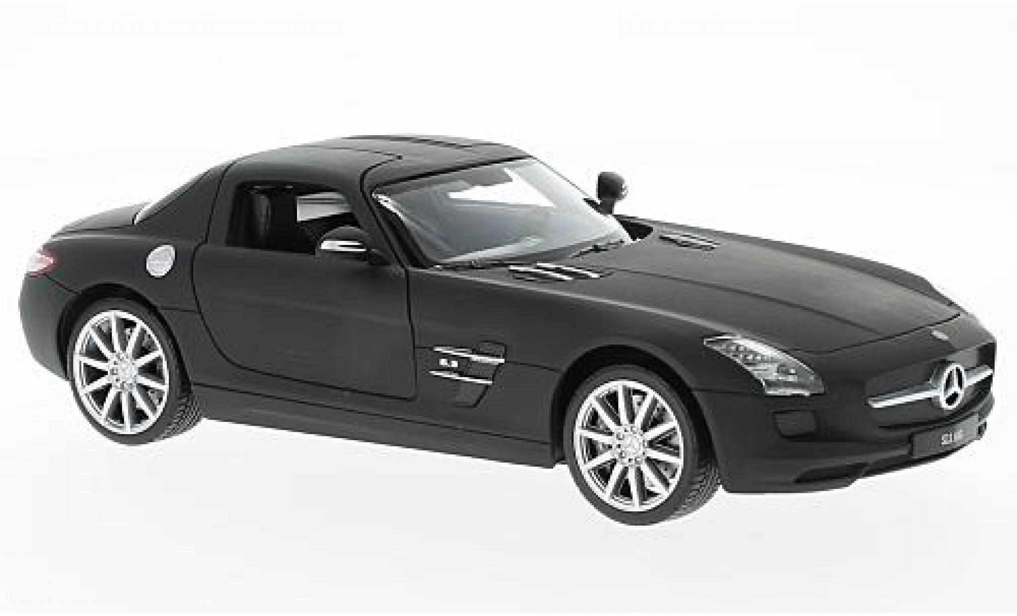 Mercedes SLS 1/24 Welly AMG (C197) matt-noire sans Vitrine