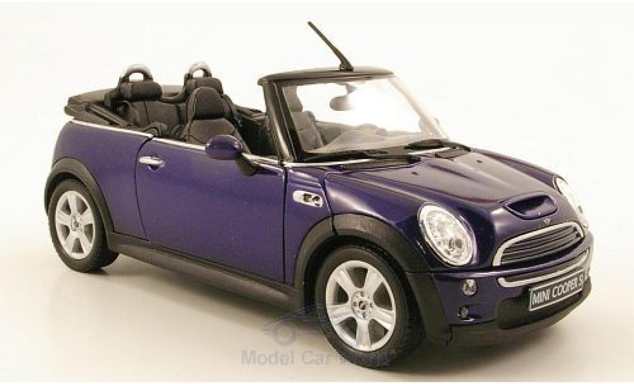 Mini Cooper S 1/24 Welly S Cabriolet bleue
