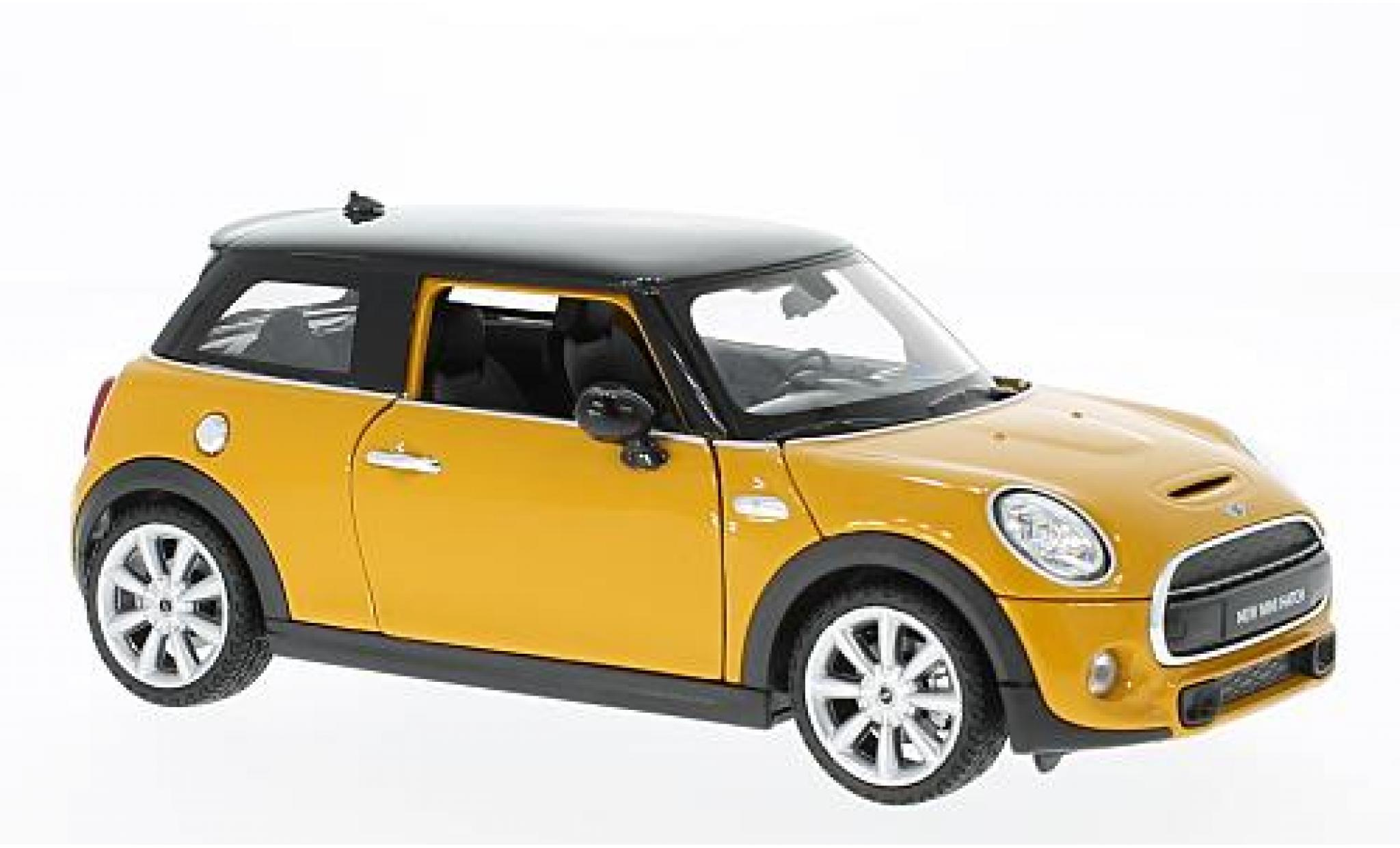 Mini Cooper 1/24 Welly S jaune/noire
