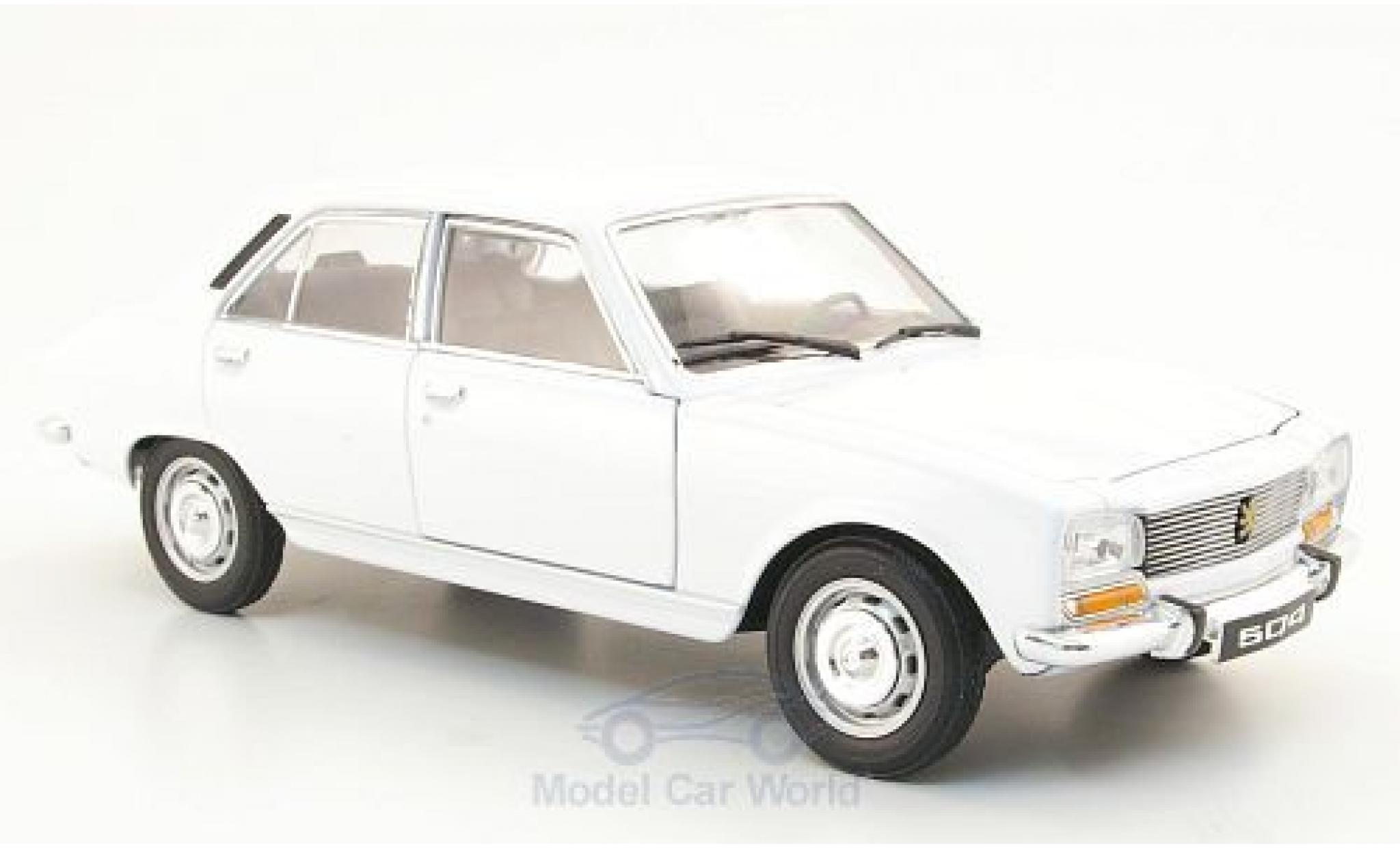 Peugeot 504 1/24 Welly blanche 1975 ohne Vitrine
