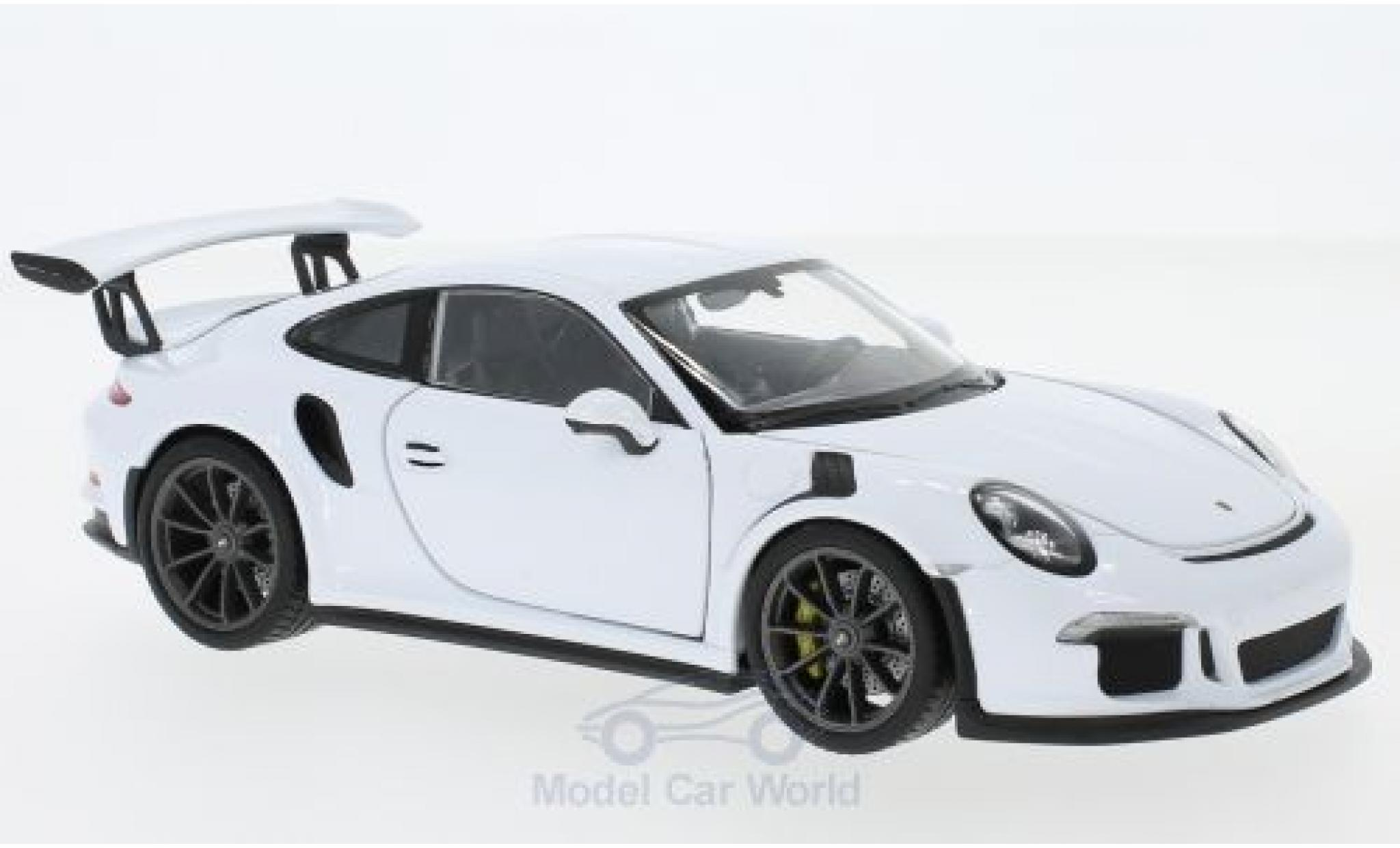 Porsche 991 GT3 RS 1/24 Welly 911  white 2015