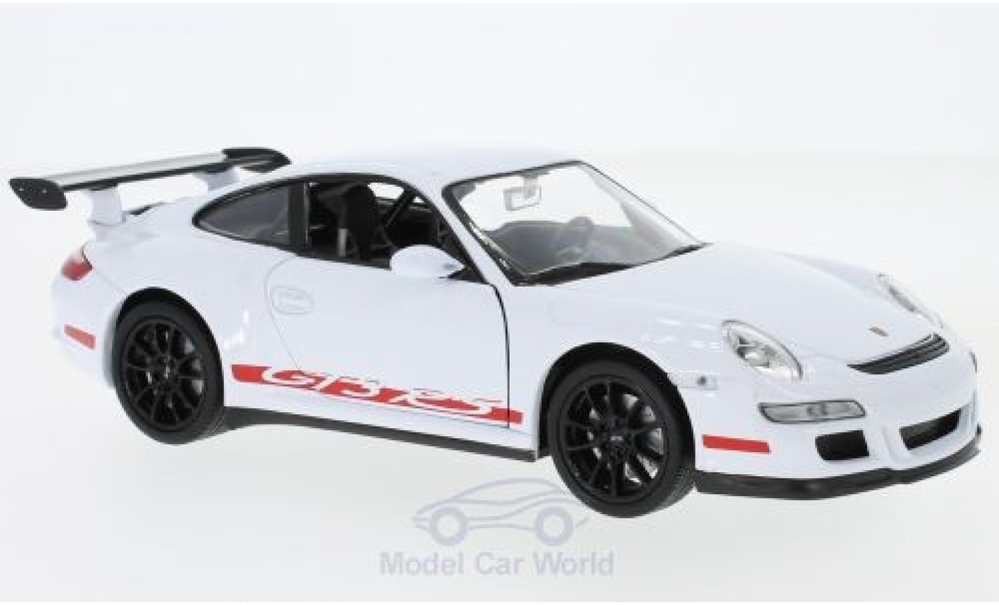 Porsche 997 GT3 RS 1/24 Welly 911   blanche