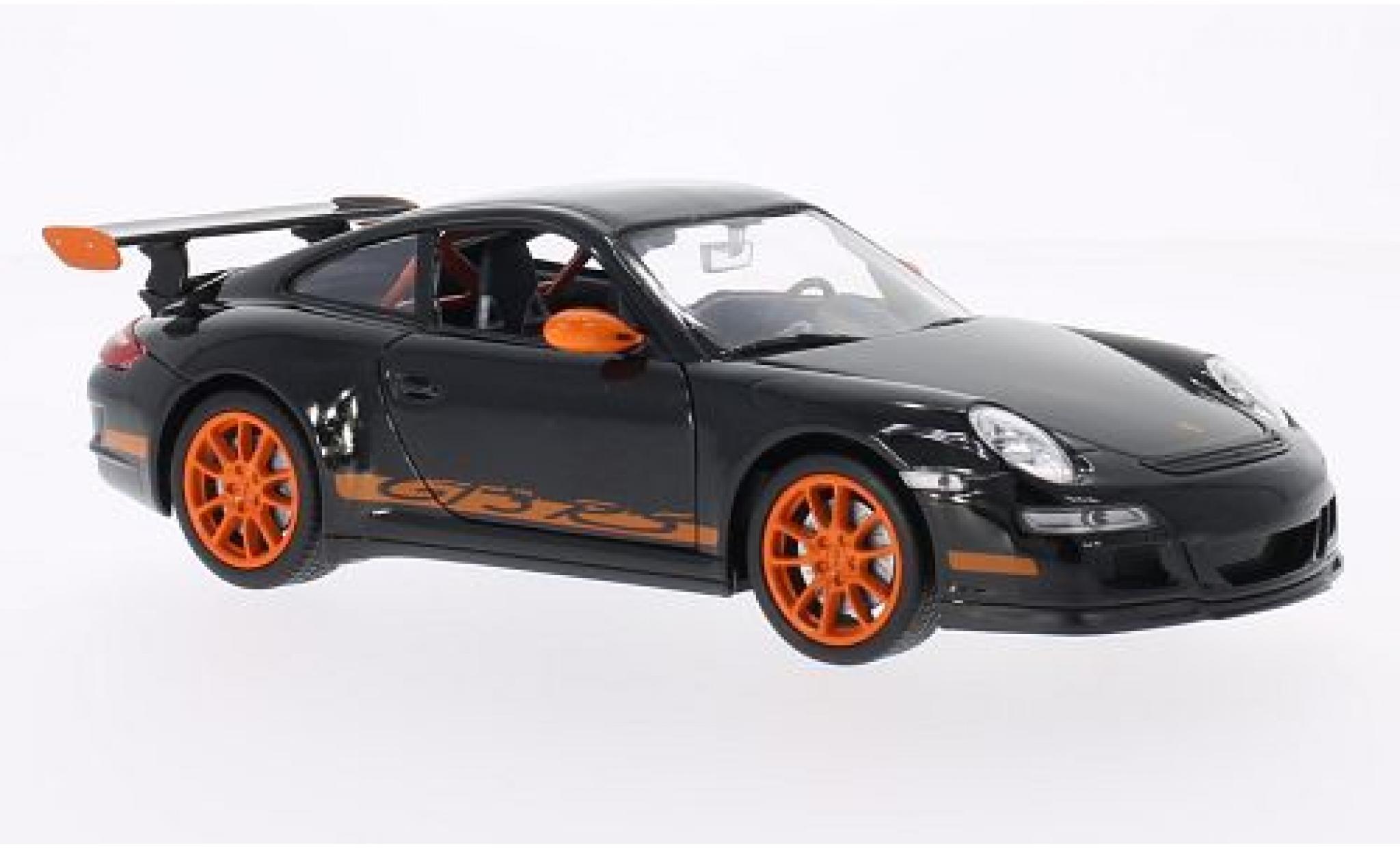 Porsche 911 1/24 Welly (997) GT3 RS noire/orange