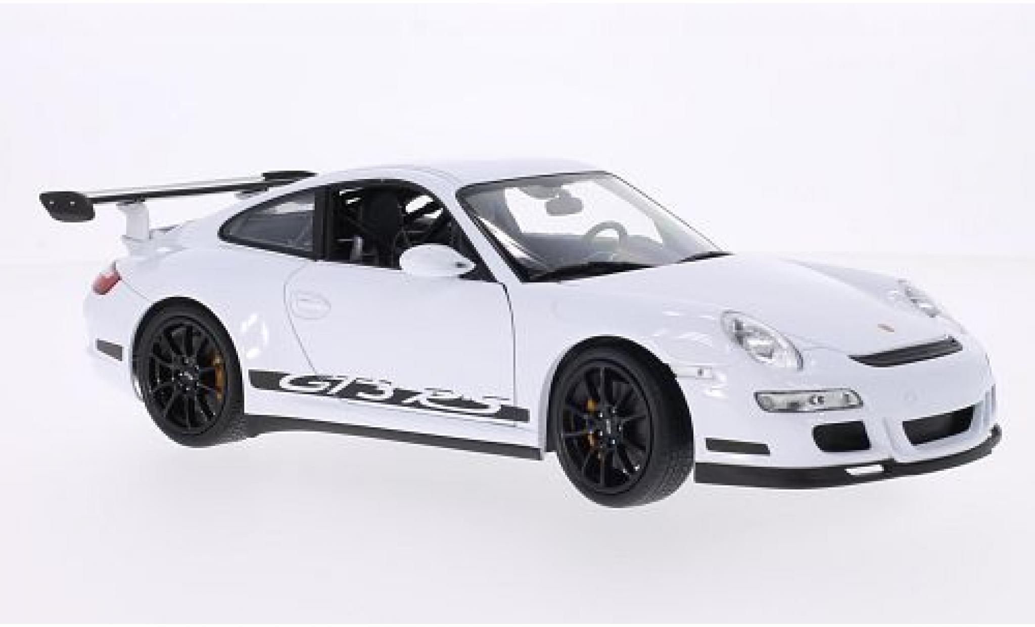 Porsche 997 GT3 RS 1/18 Welly 911  white/Dekor