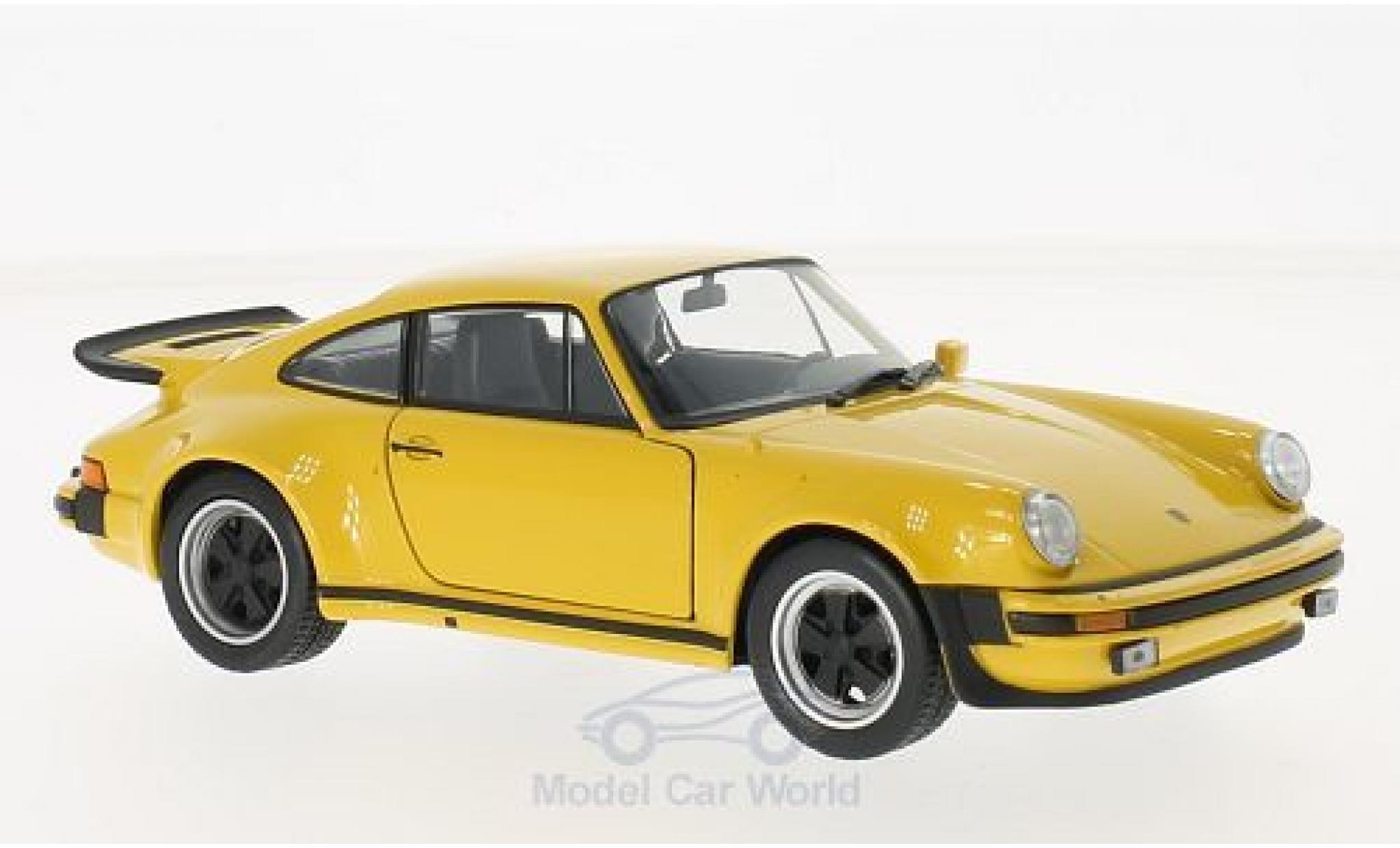 Porsche 930 Turbo 1/24 Welly 911 3.0 jaune 1974