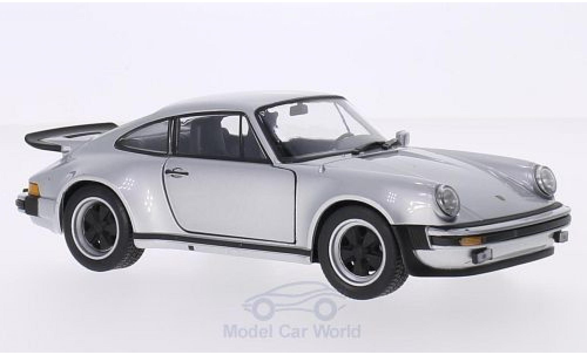 Porsche 911 1/24 Welly Turbo 3.0 grise 1974