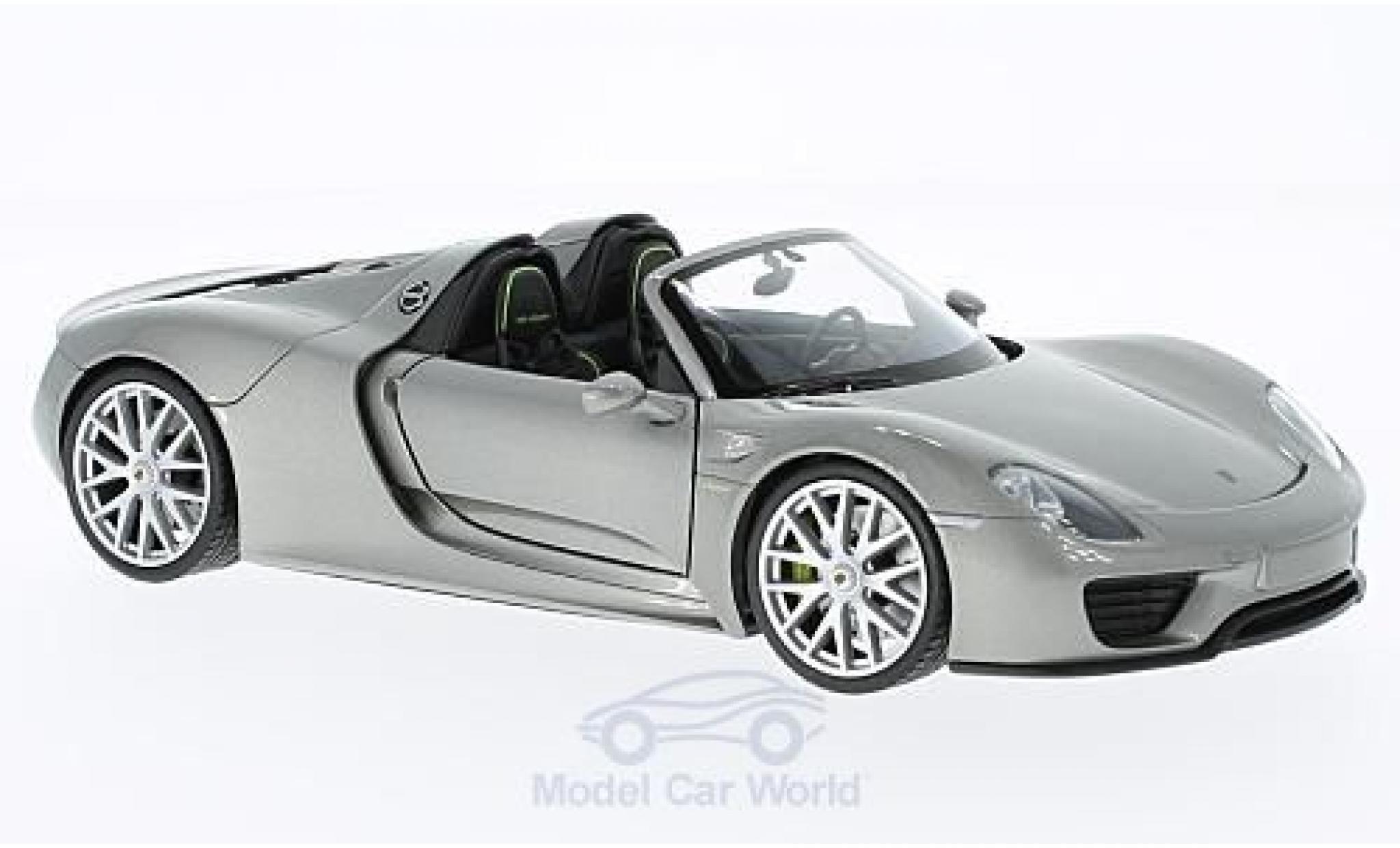 Porsche 918 1/24 Welly Spyder grey offen