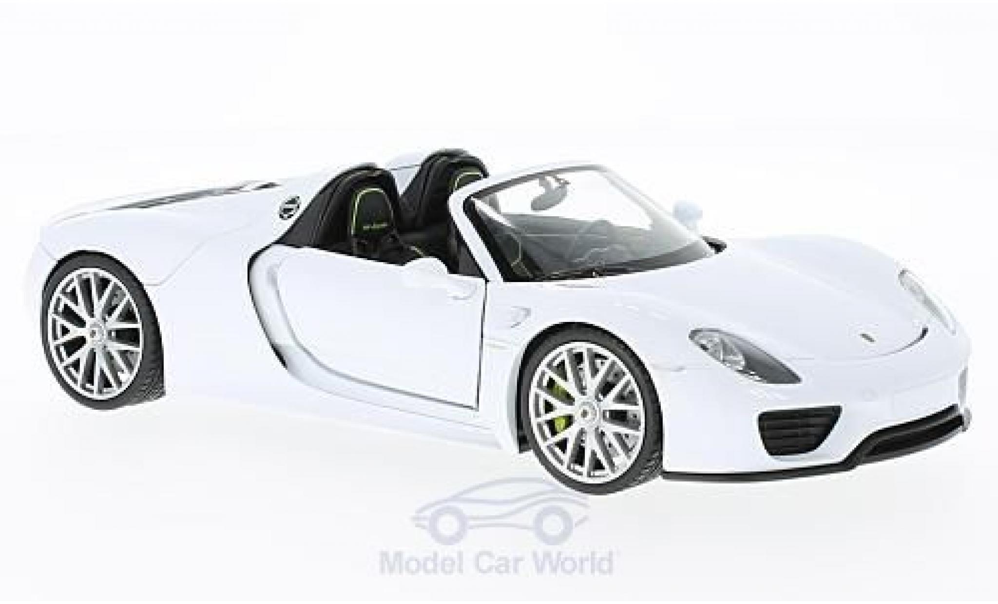 Porsche 918 1/24 Welly Spyder blanche offen